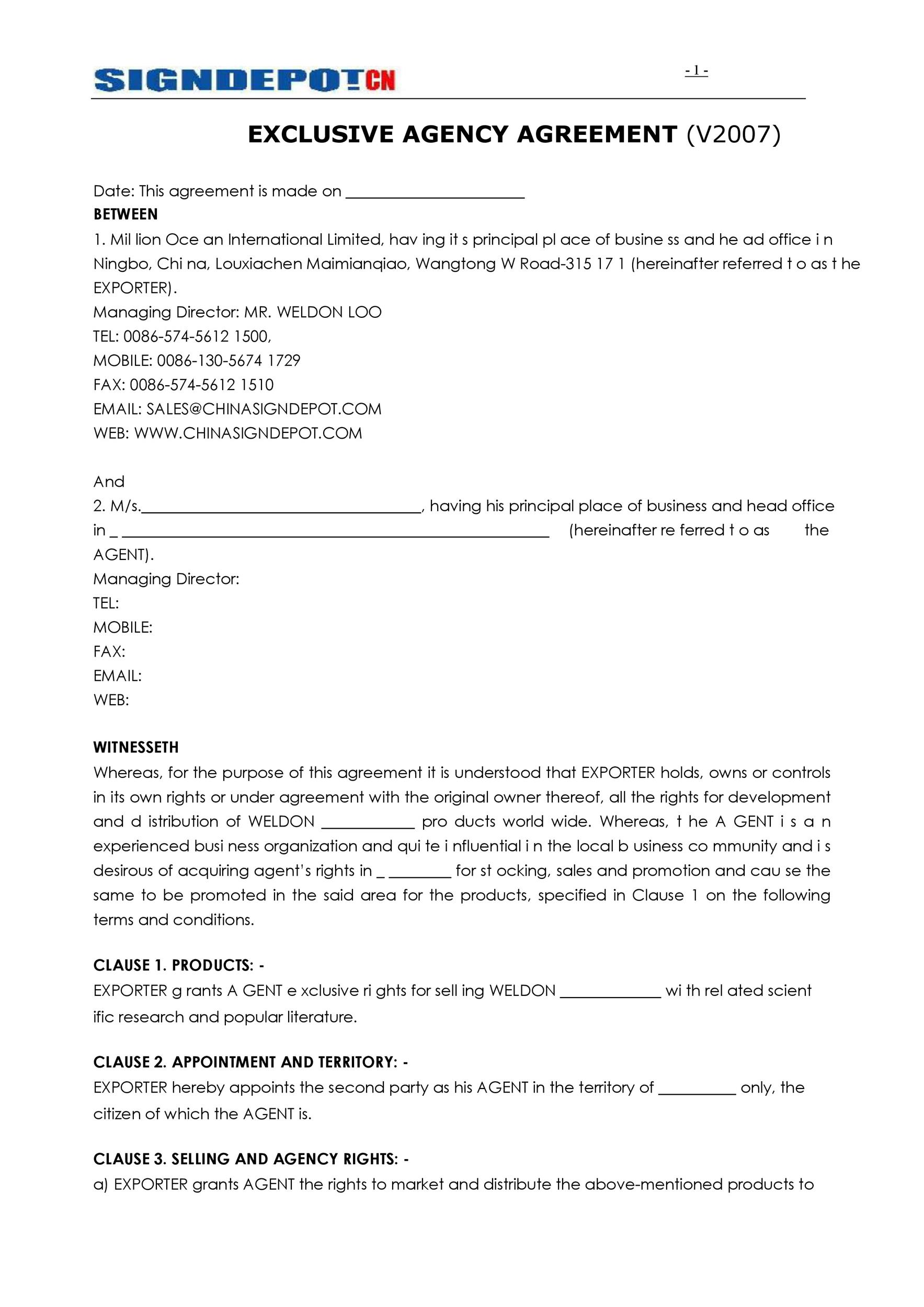 Free agency agreement 21