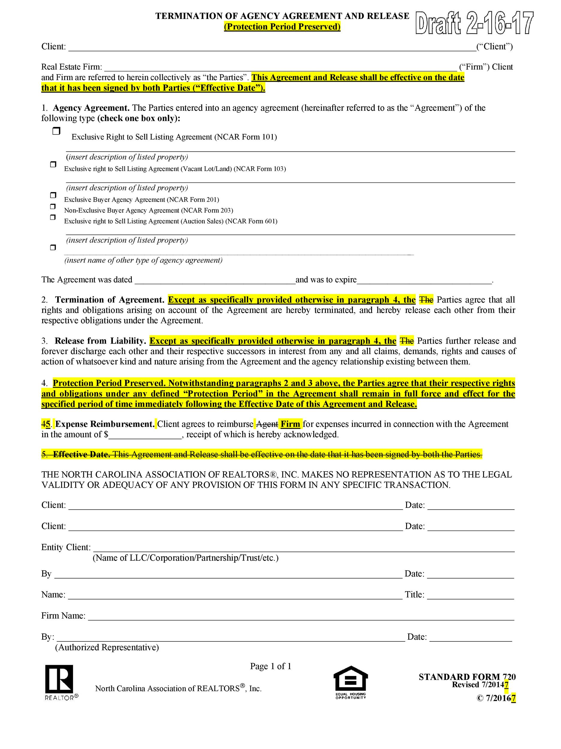 50 Free Agency Agreement Templates (MS Word)