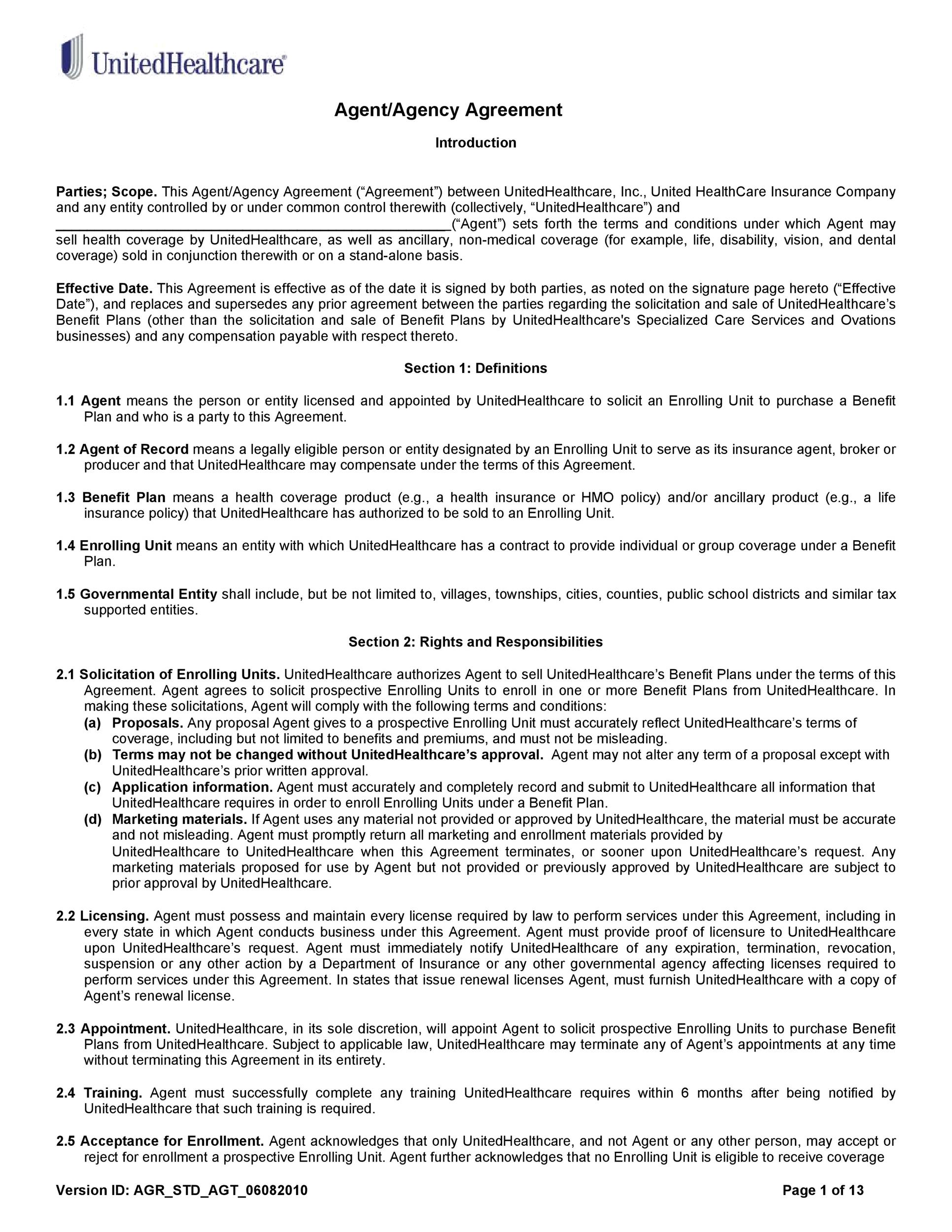 Free agency agreement 42