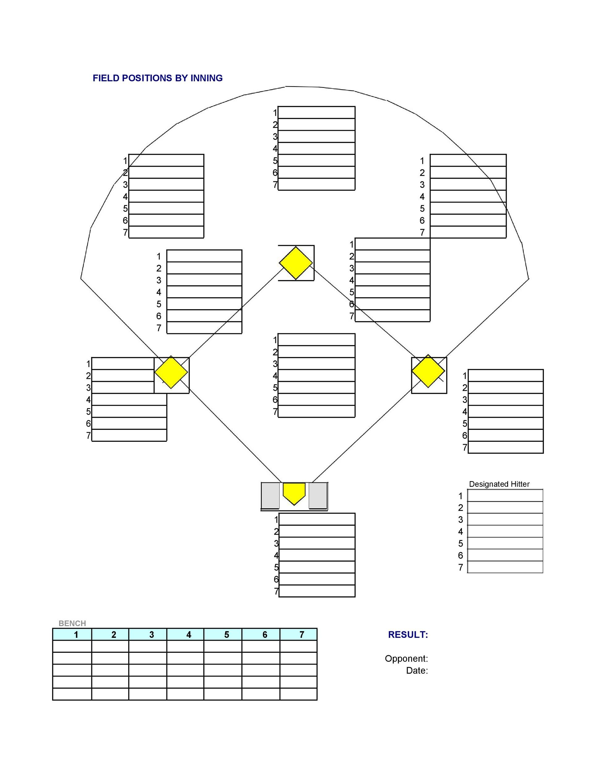Free baseball lineup template 01