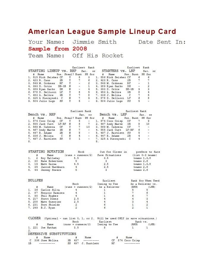 Free baseball lineup template 35