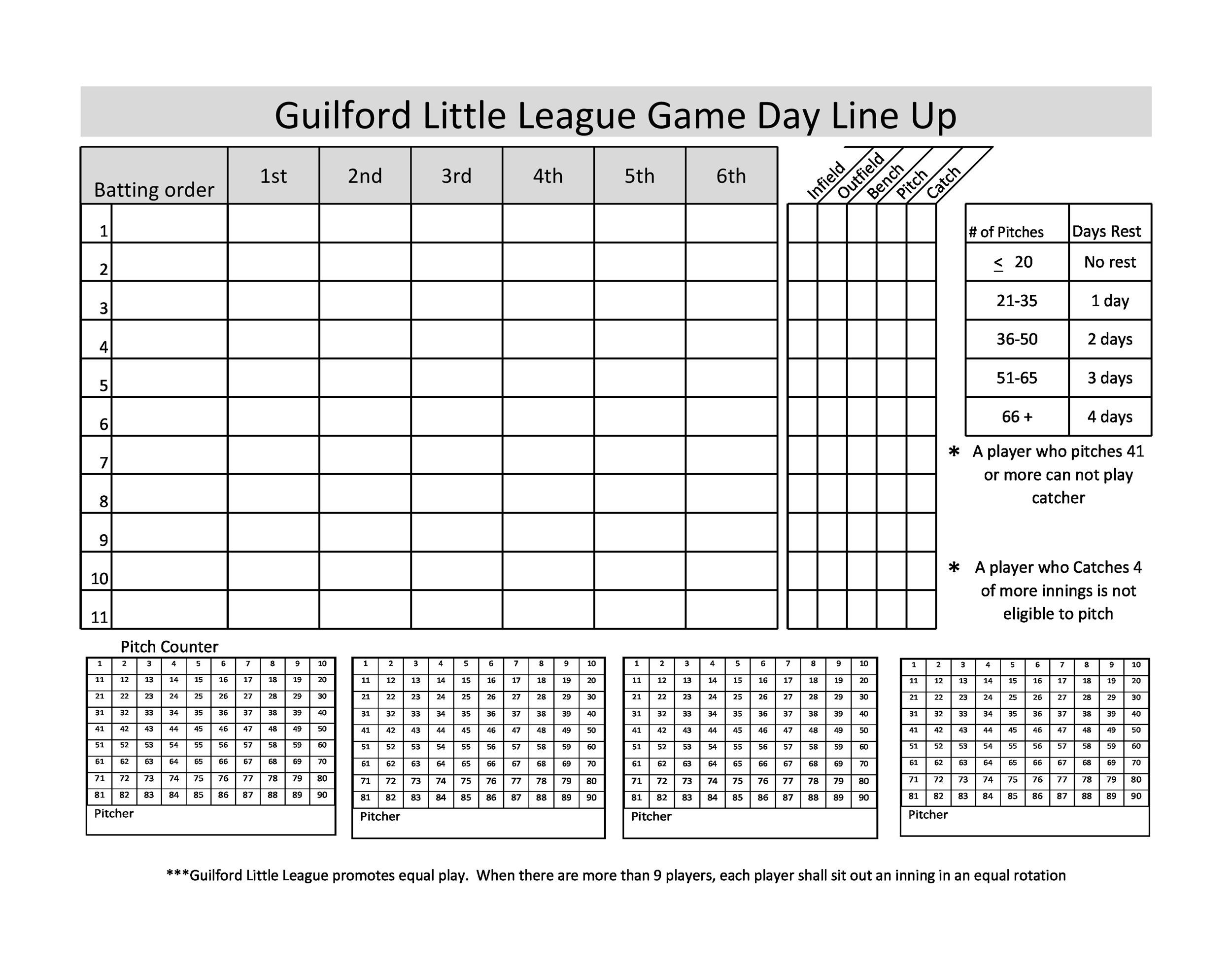 Free baseball lineup template 37