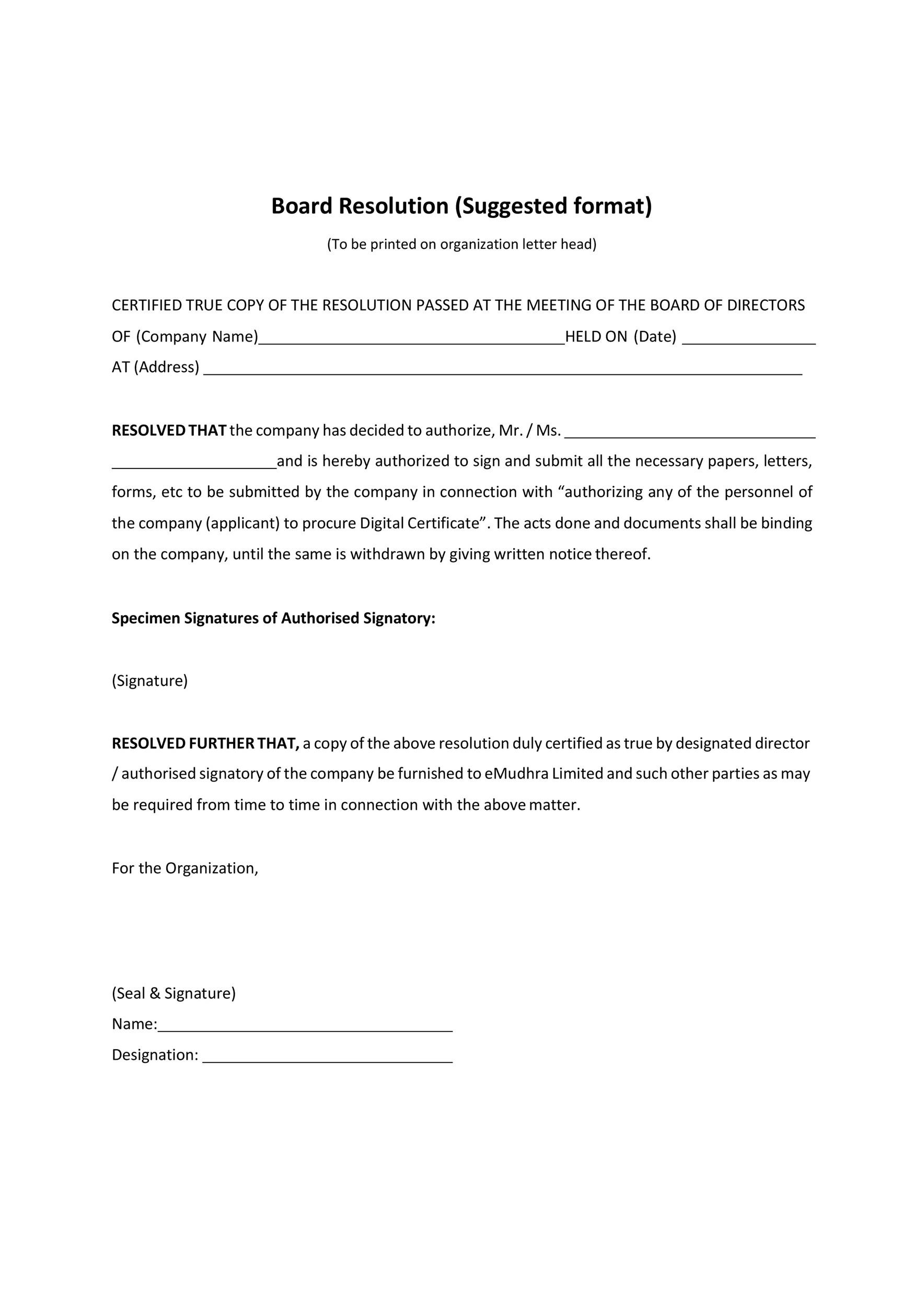 Free board solution template 03