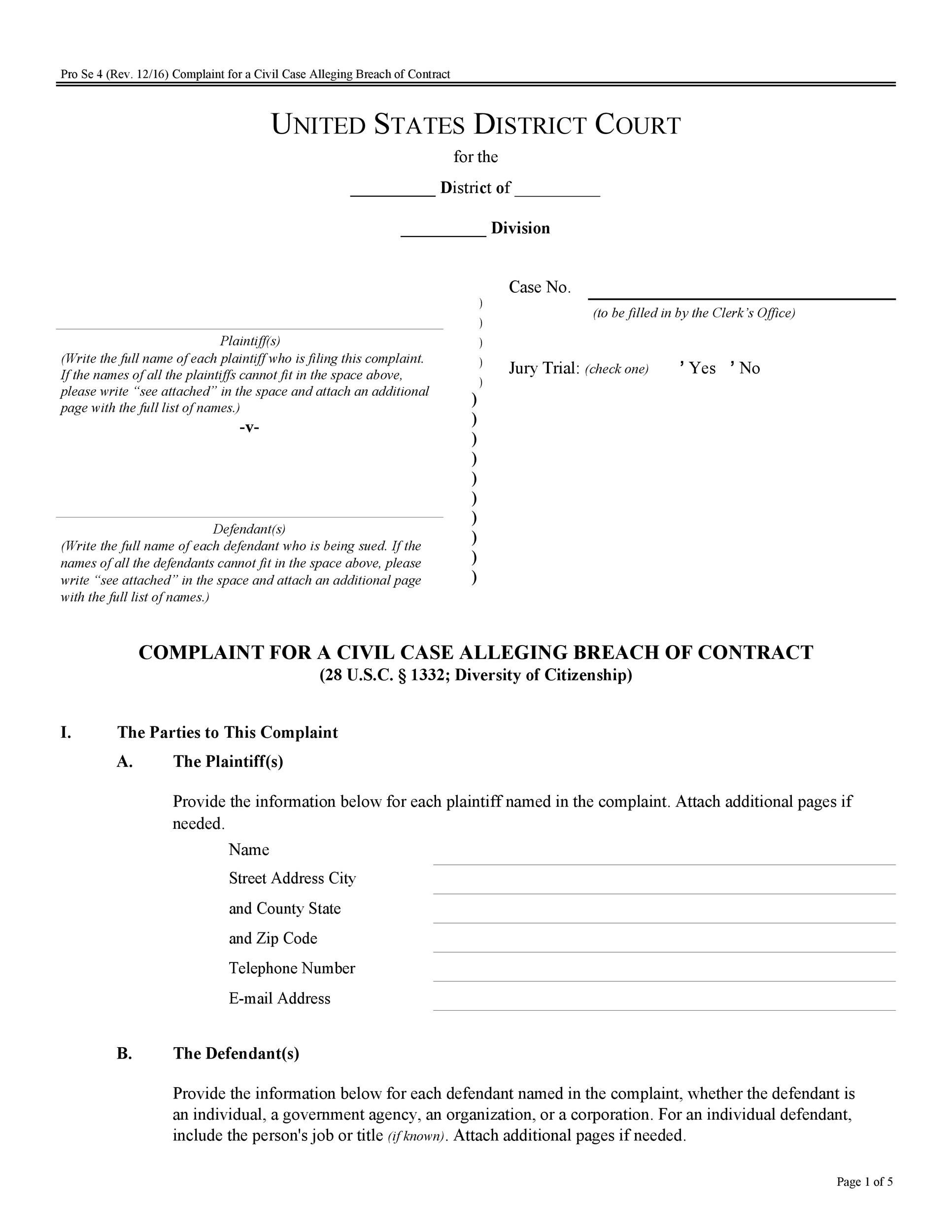 Free breach of contract 03