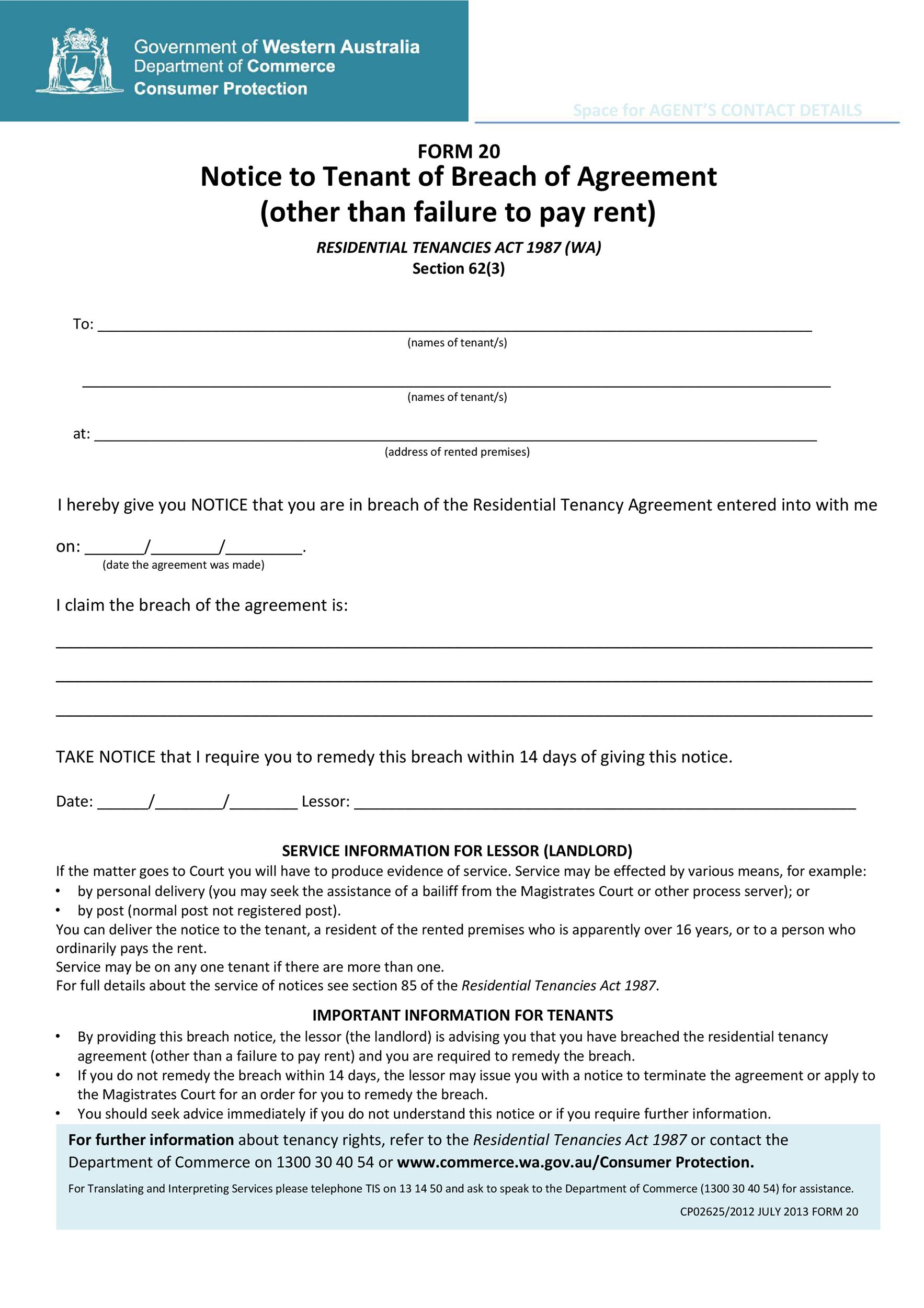 Free breach of contract 09