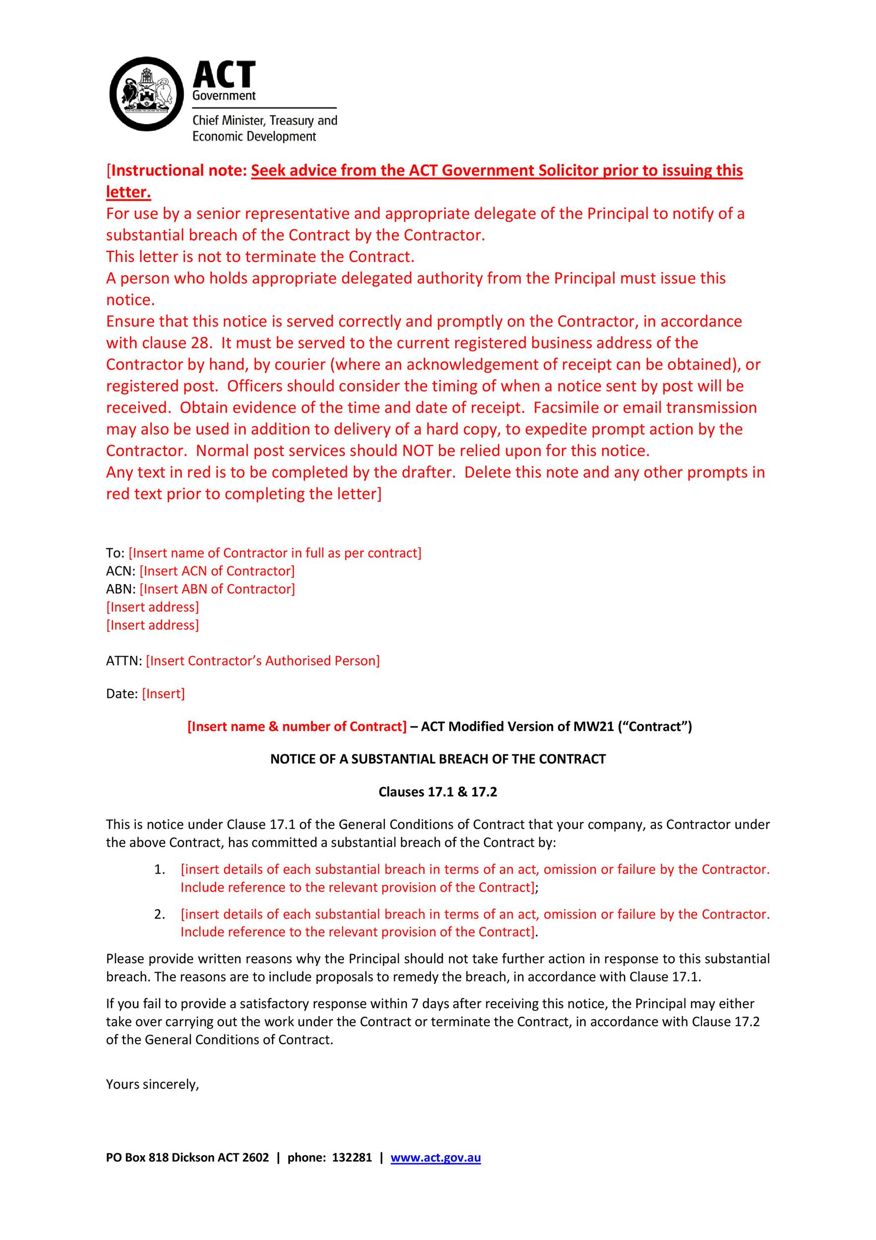 Free breach of contract 10