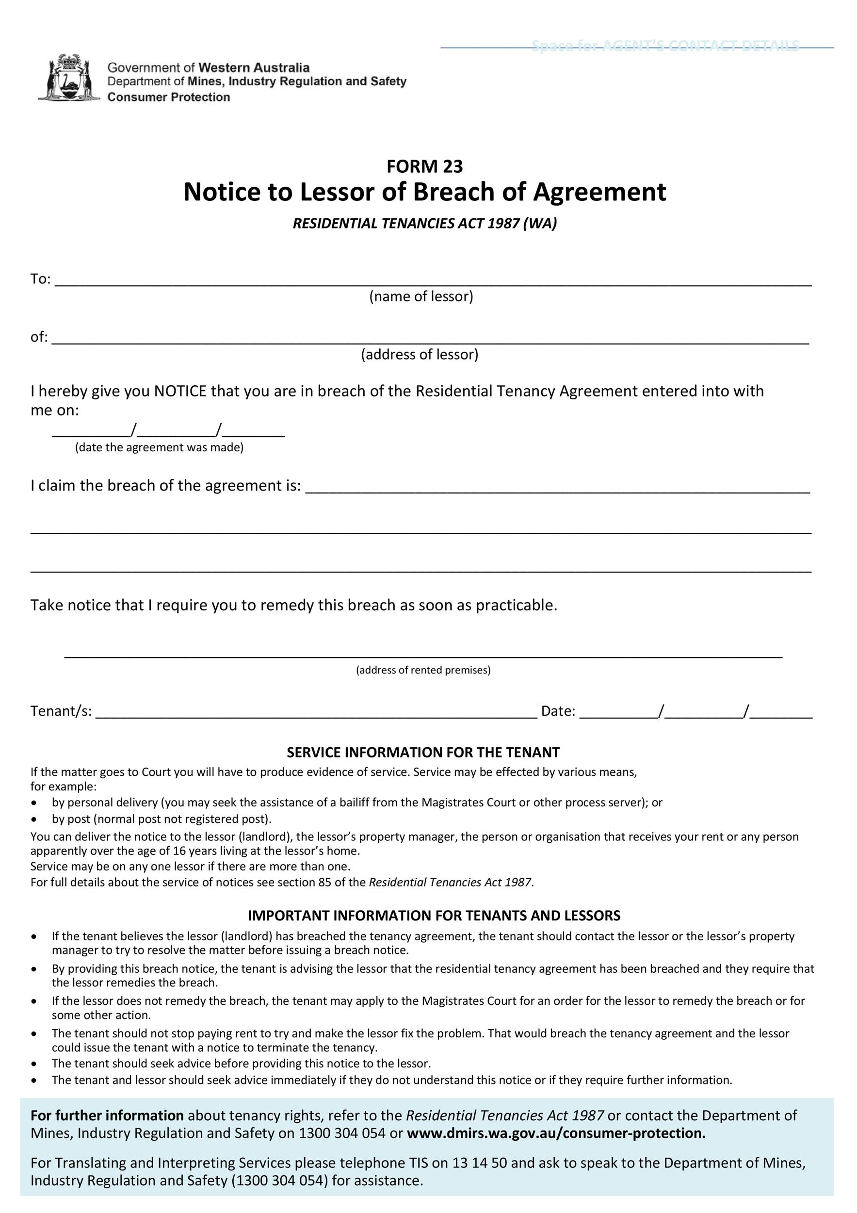 Free breach of contract 12