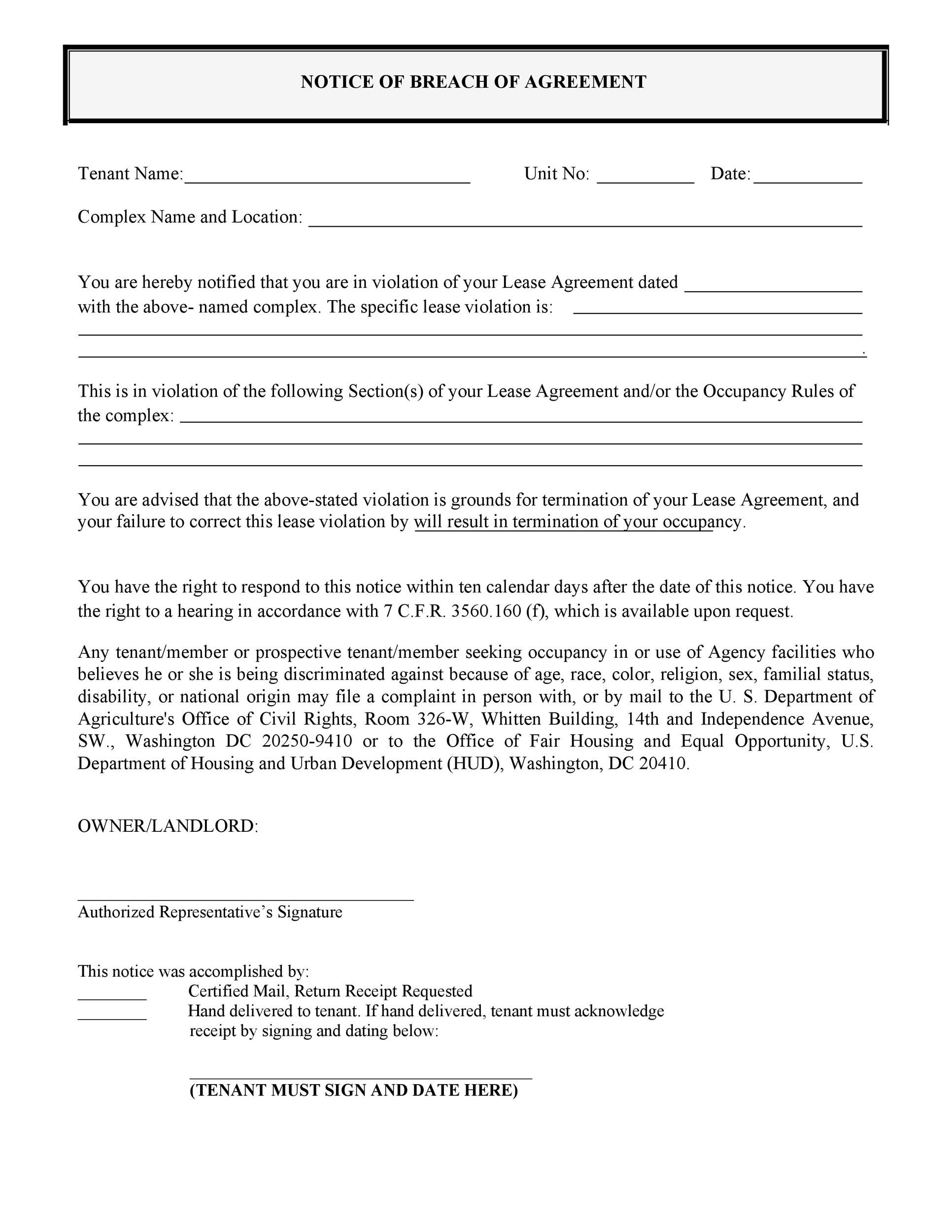 Free breach of contract 13