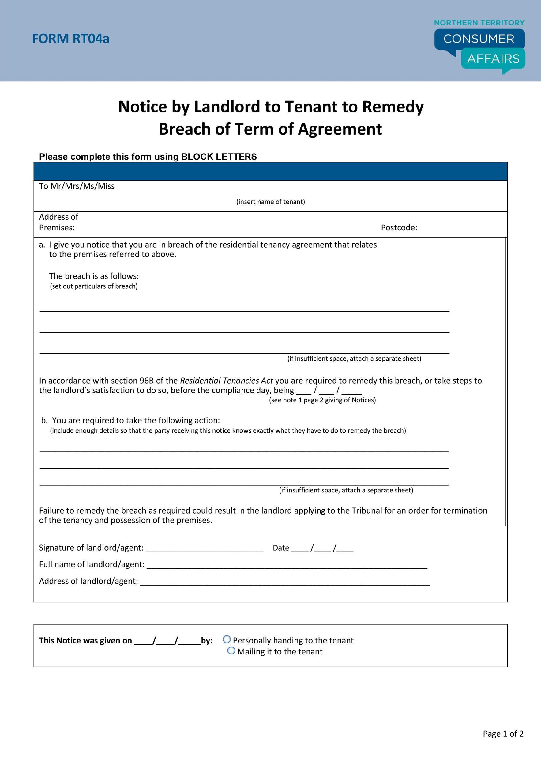 Free breach of contract 15