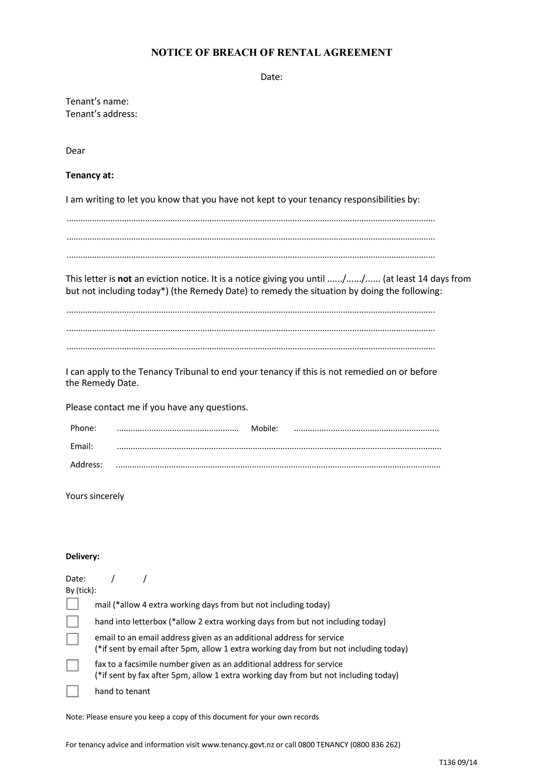 Free breach of contract 16