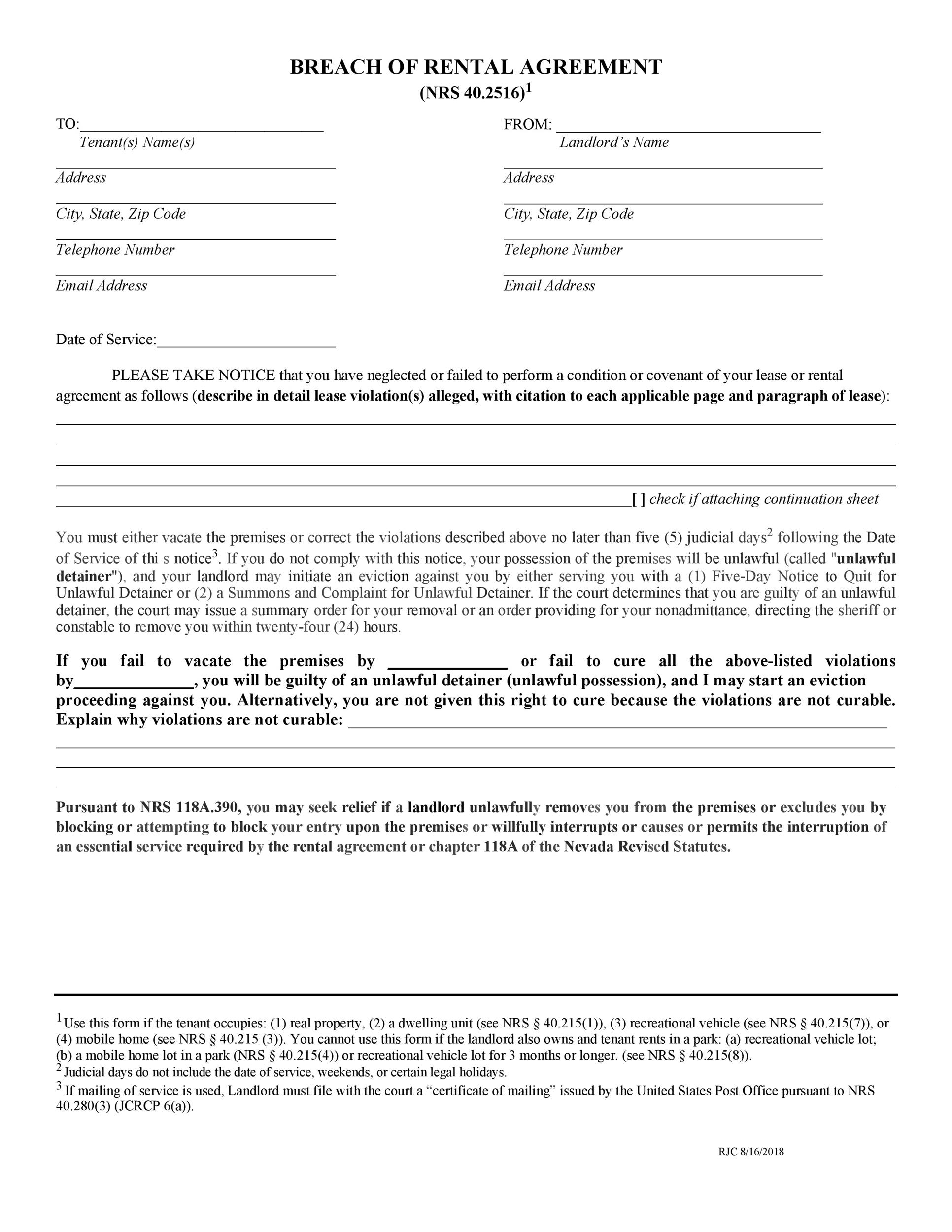 Free breach of contract 18