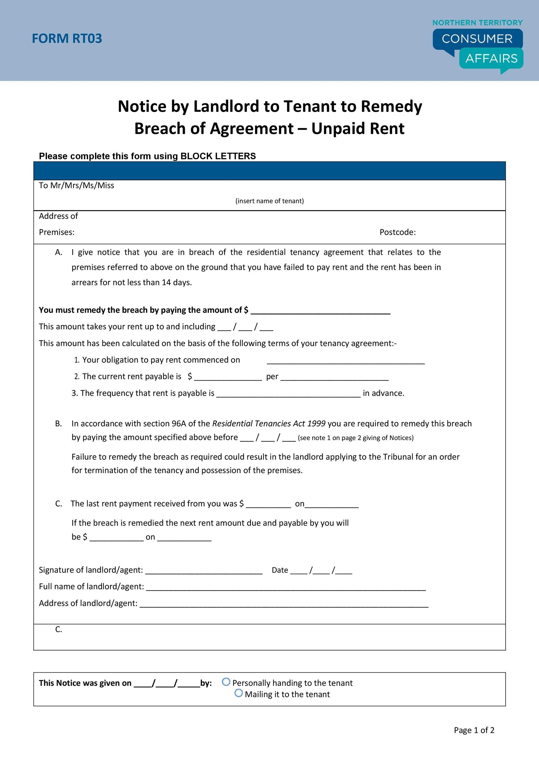 Free breach of contract 30