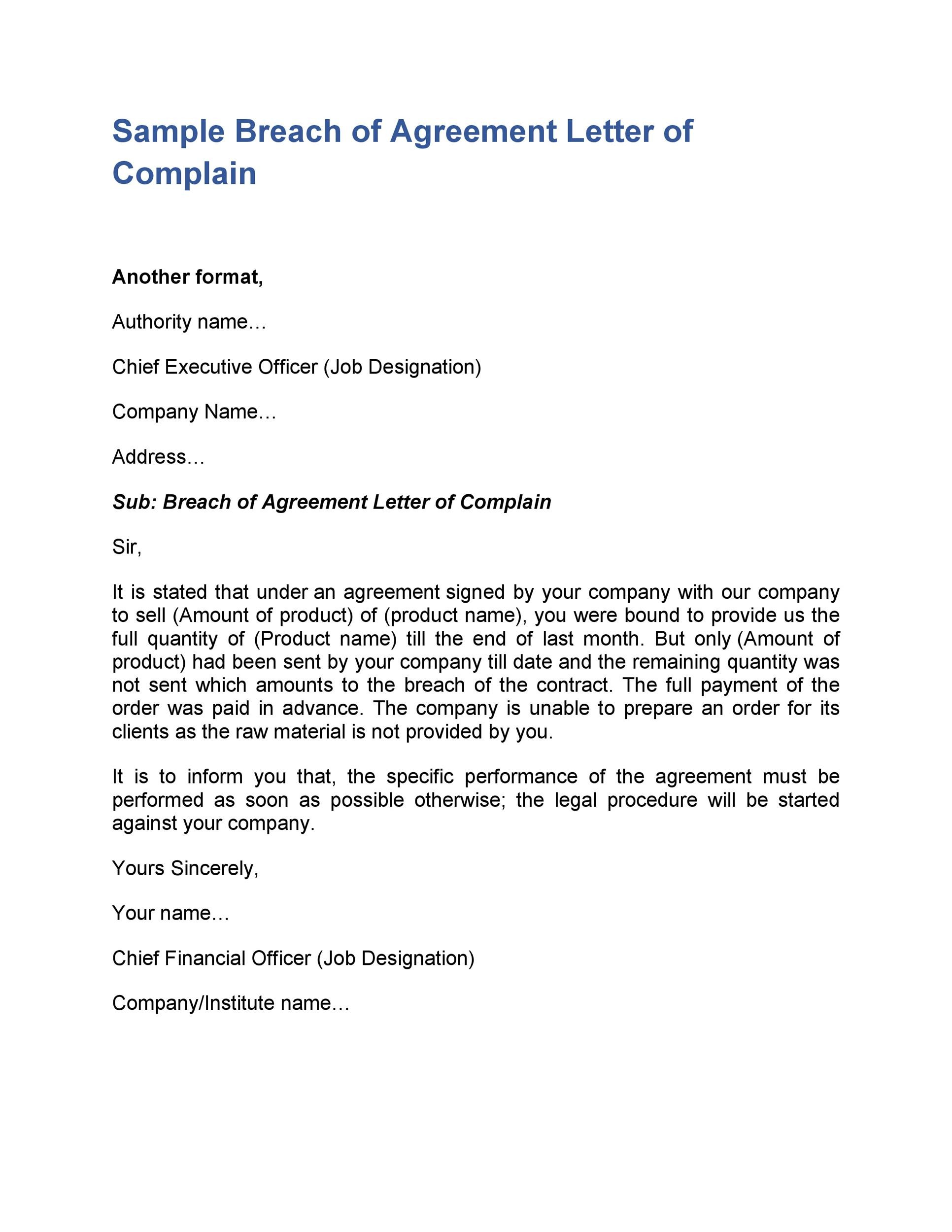 Sample Demand Letter For Breach Of Contract from templatelab.com