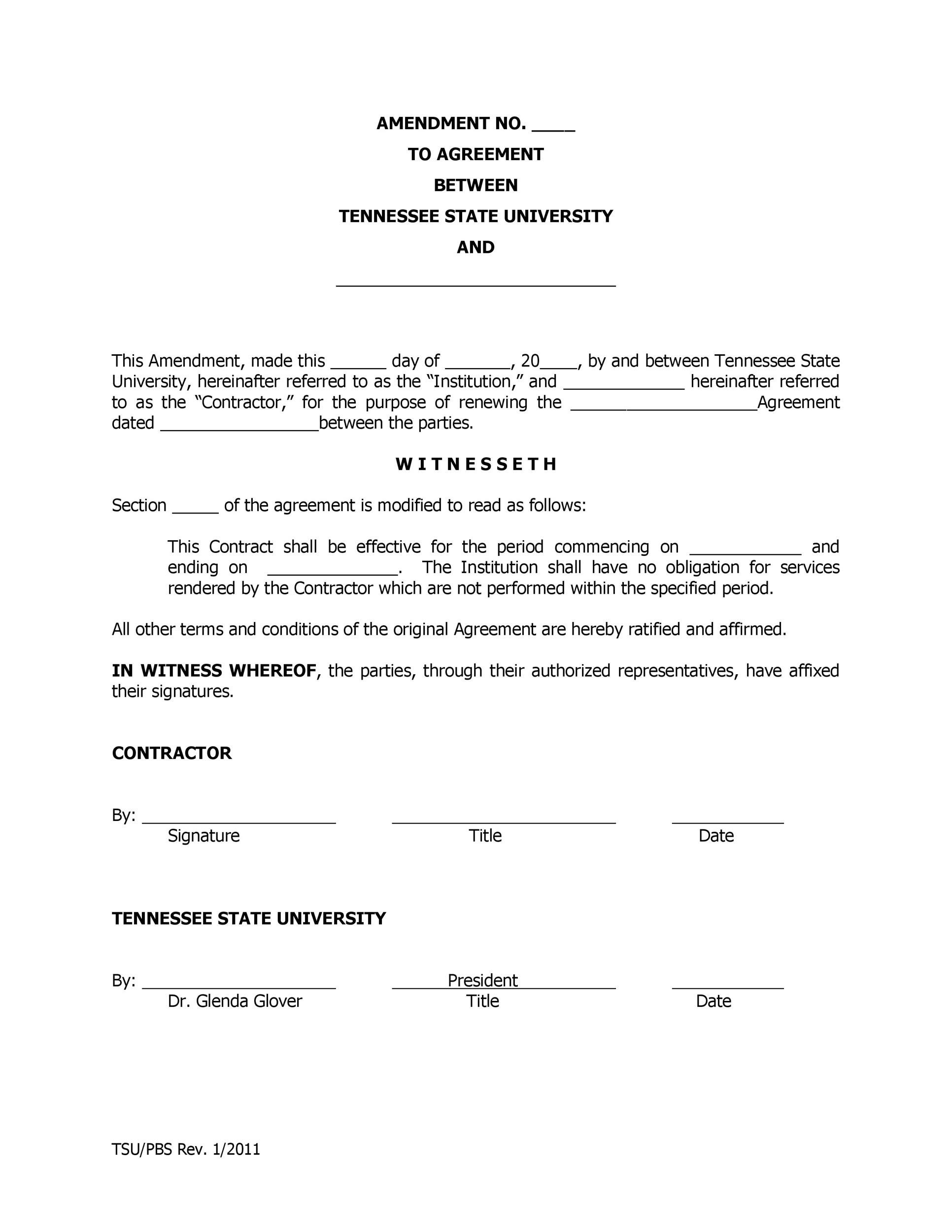 Free contract amendment 04
