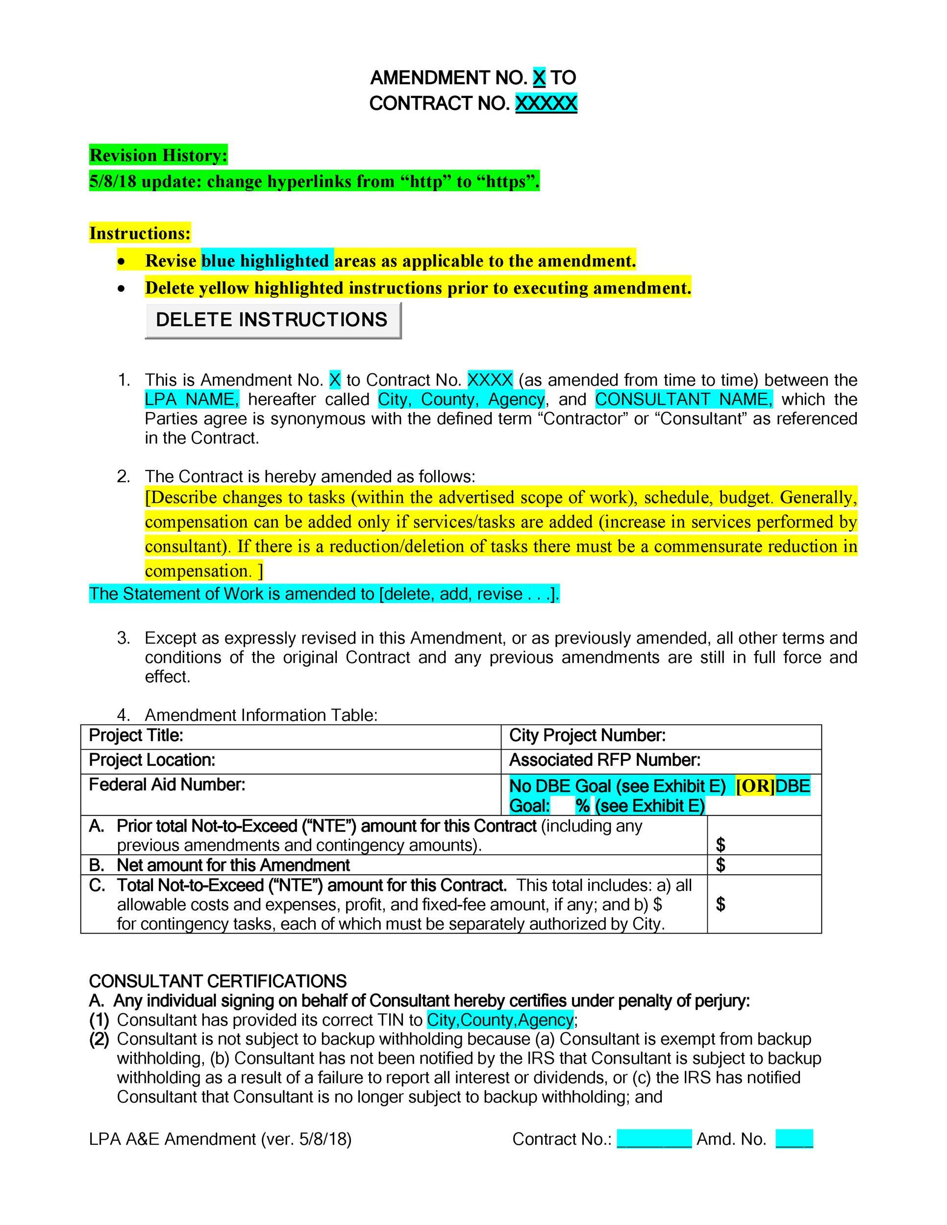 Free contract amendment 06
