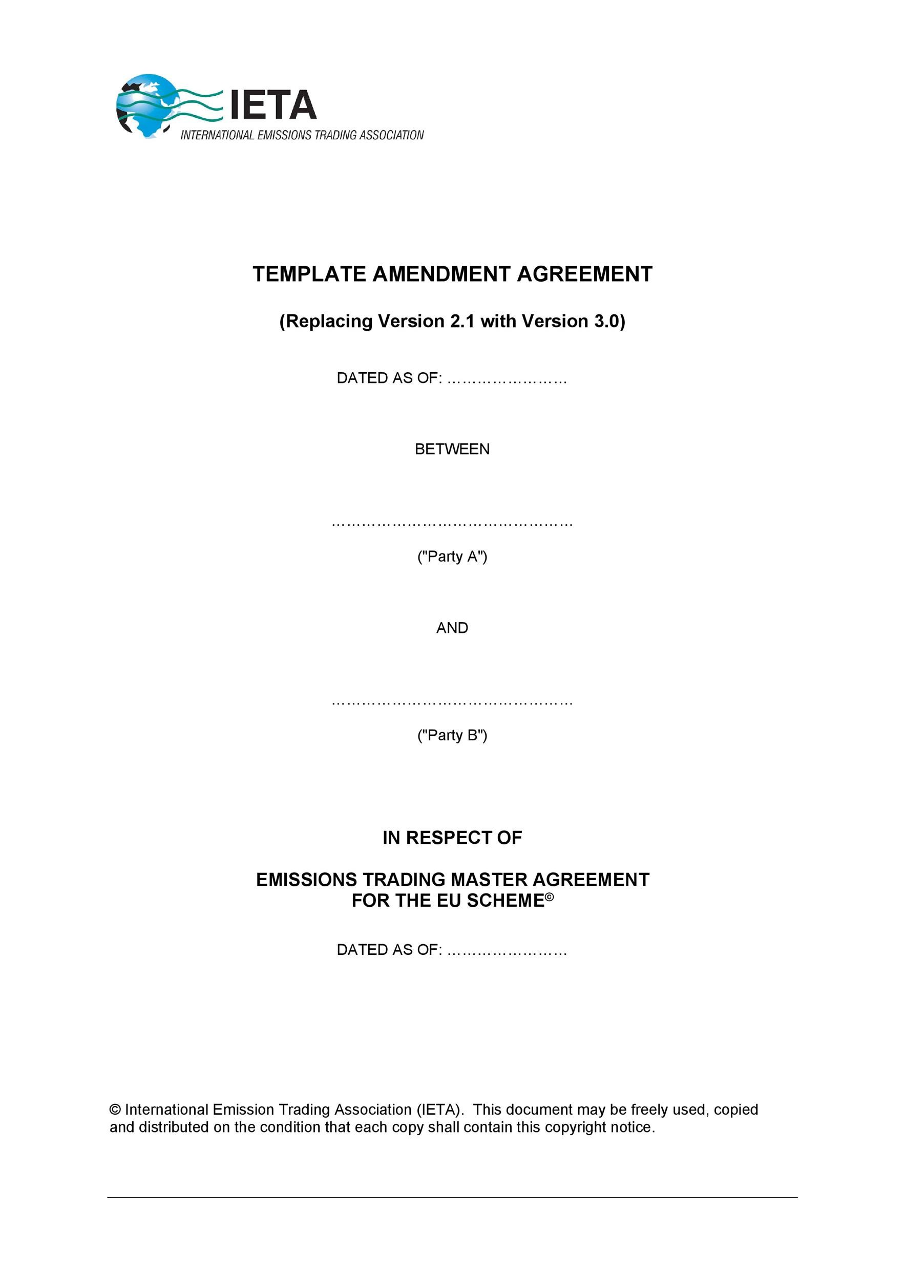 Free contract amendment 17