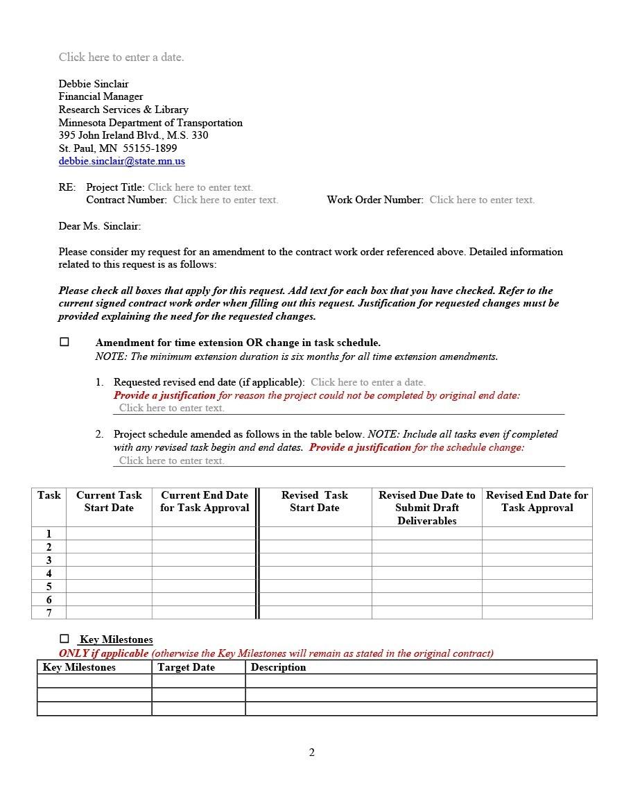 Free contract amendment 19