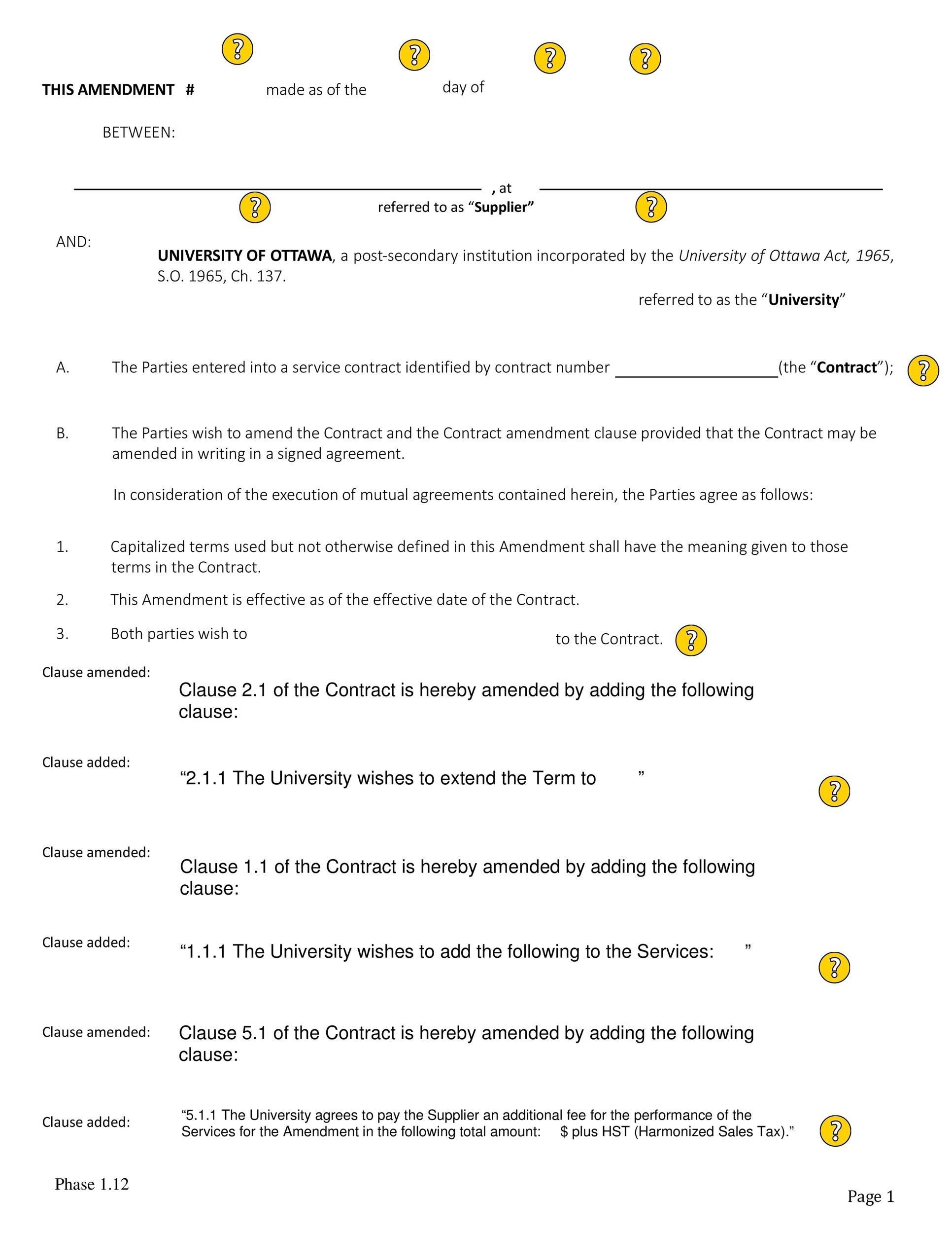 Free contract amendment 24