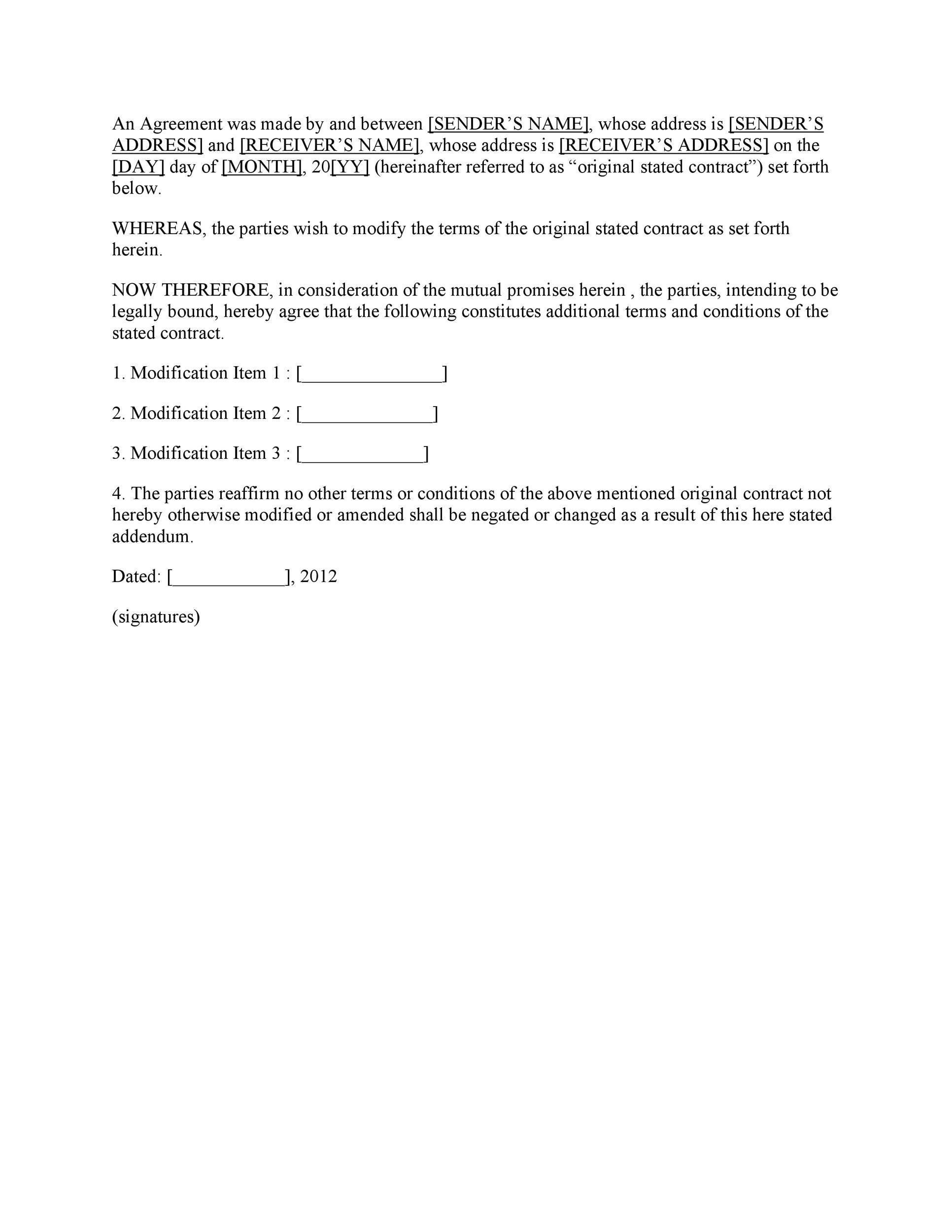 Free contract amendment 26