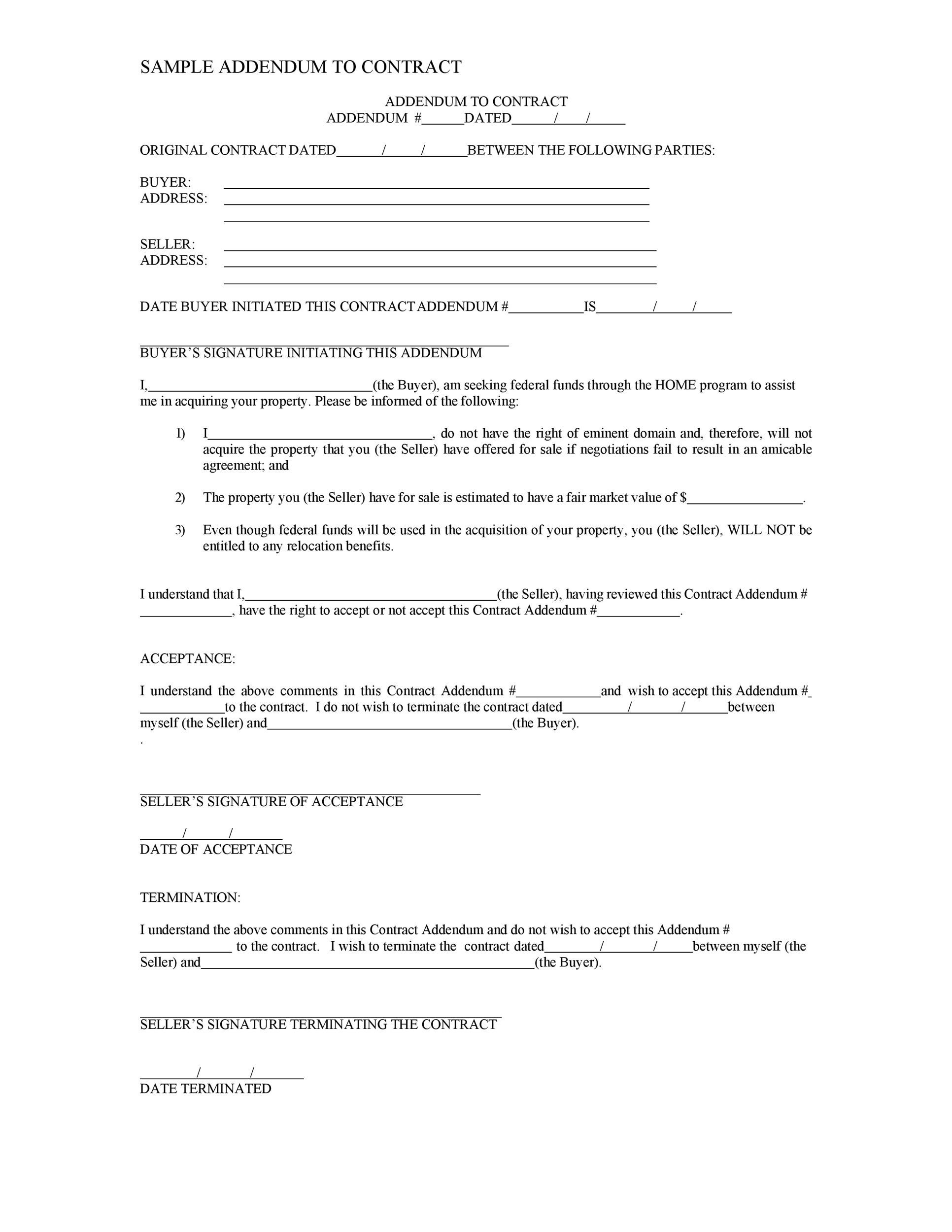 Free contract amendment 29