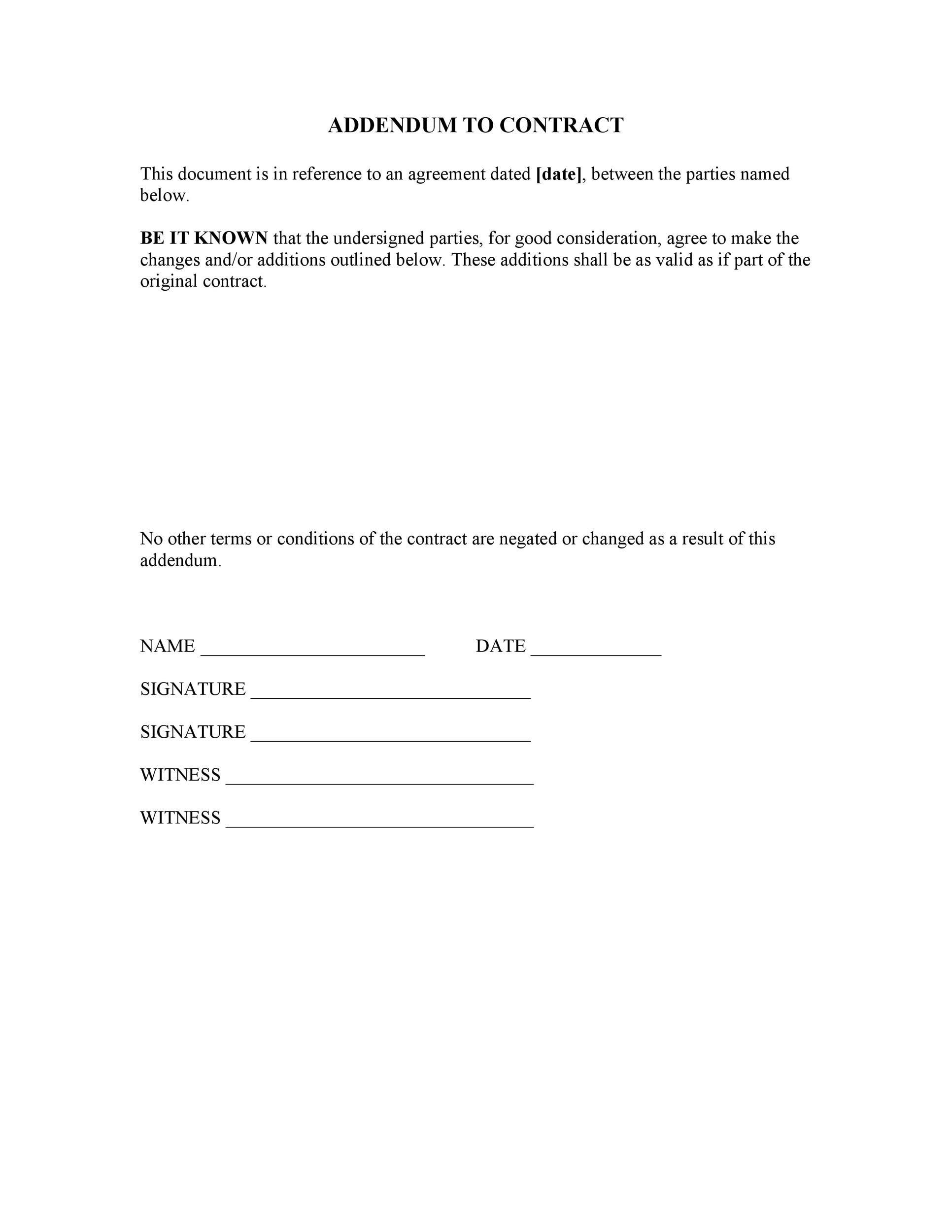 Free contract amendment 34