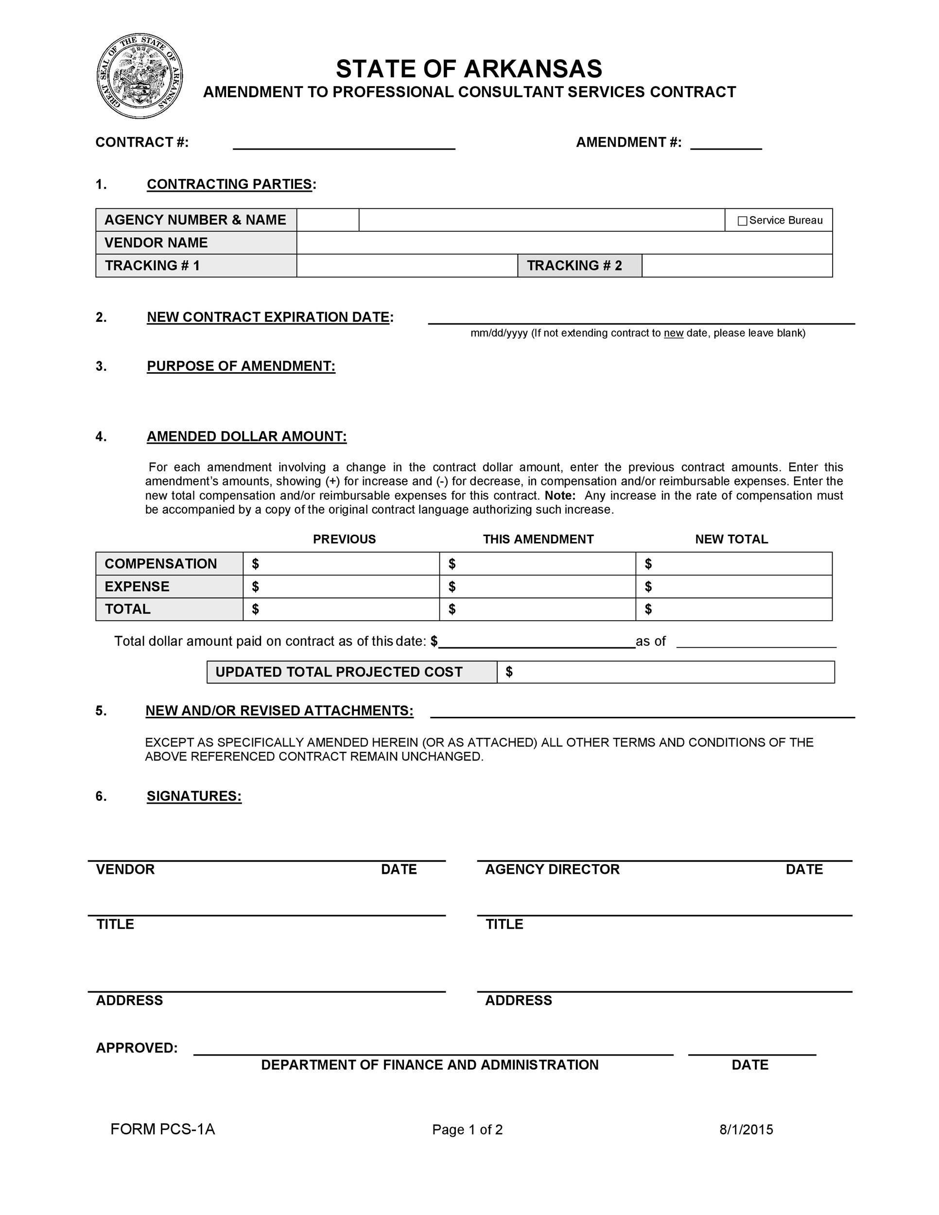 Free contract amendment 38