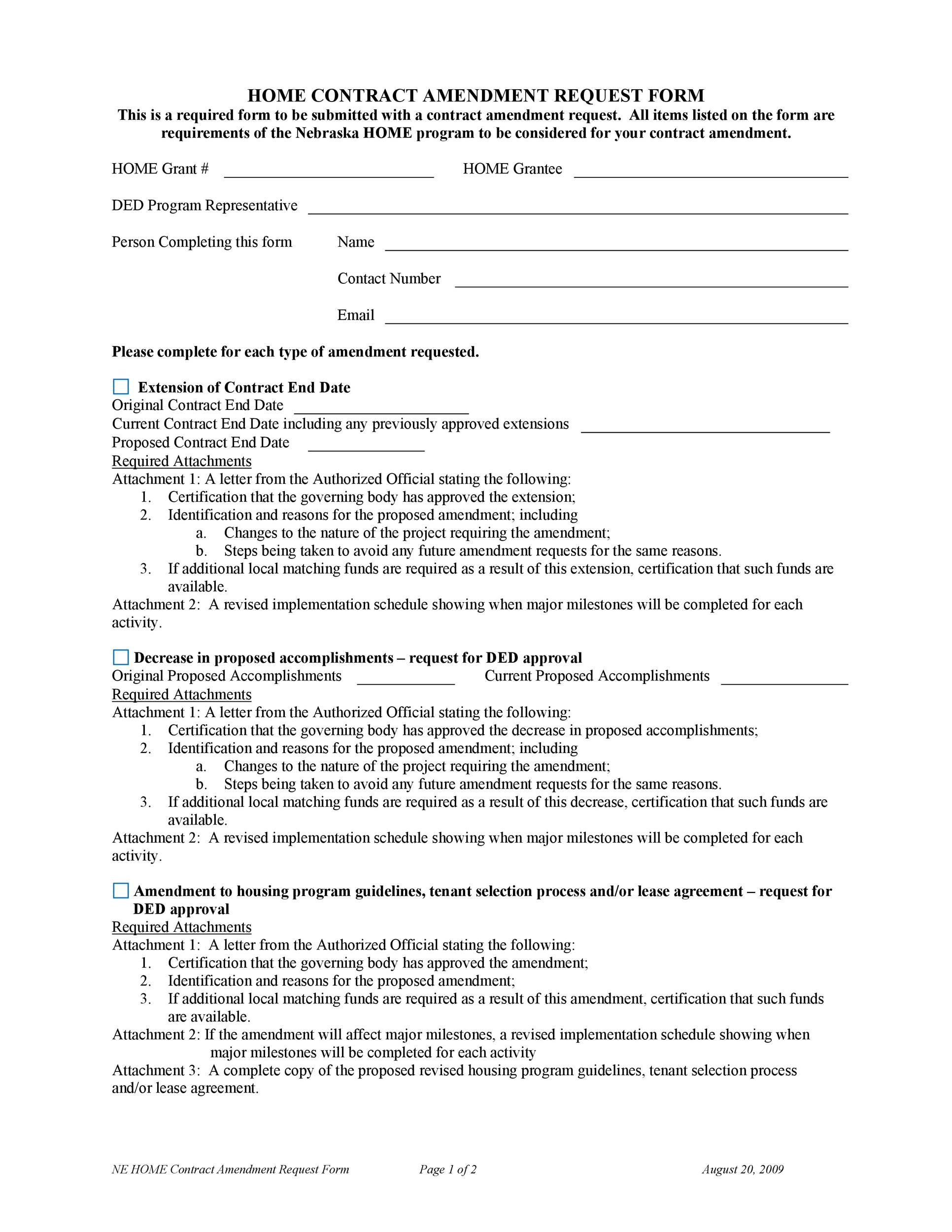 Free contract amendment 40