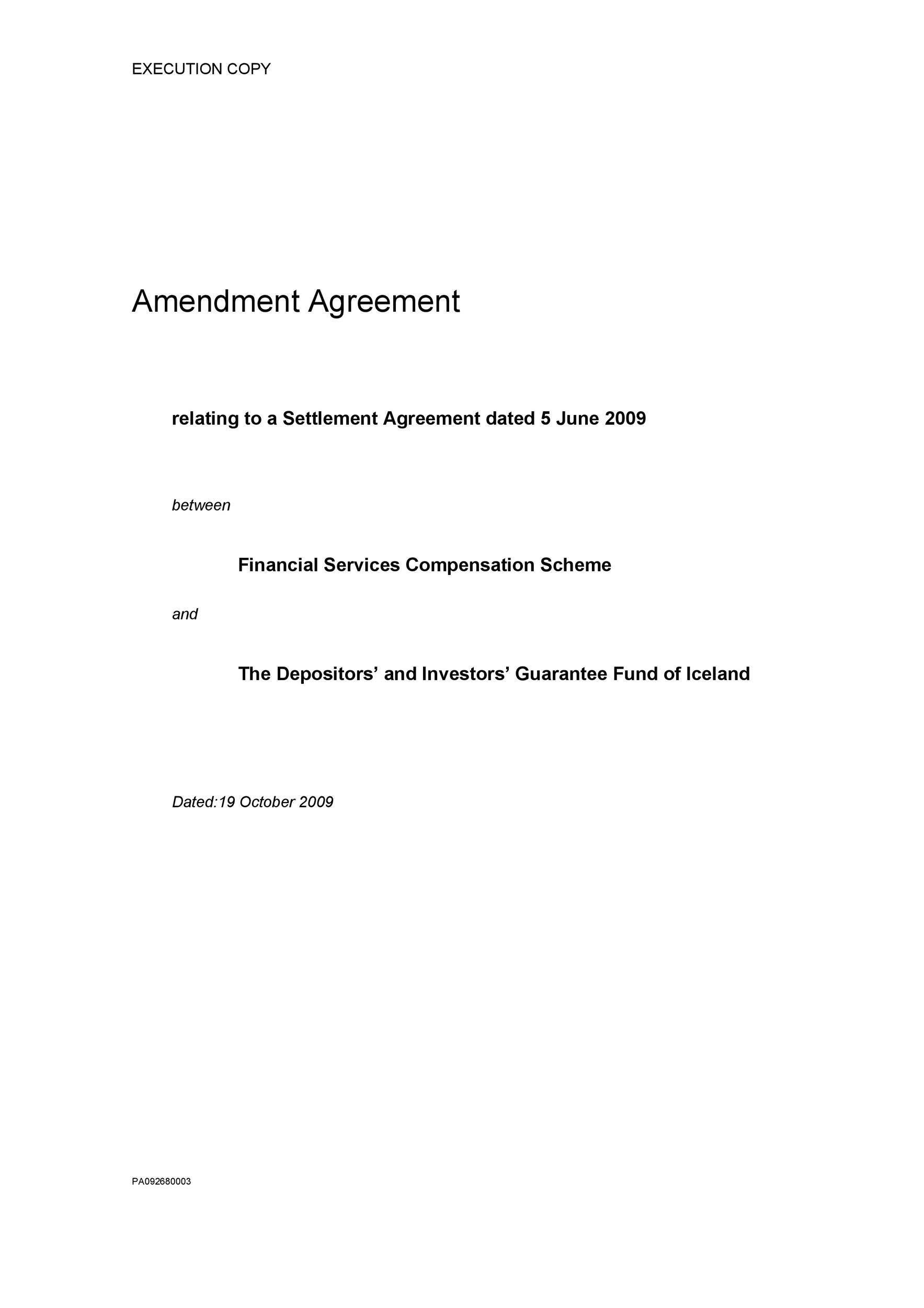 Free contract amendment 44