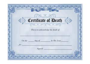 death certificate template 14