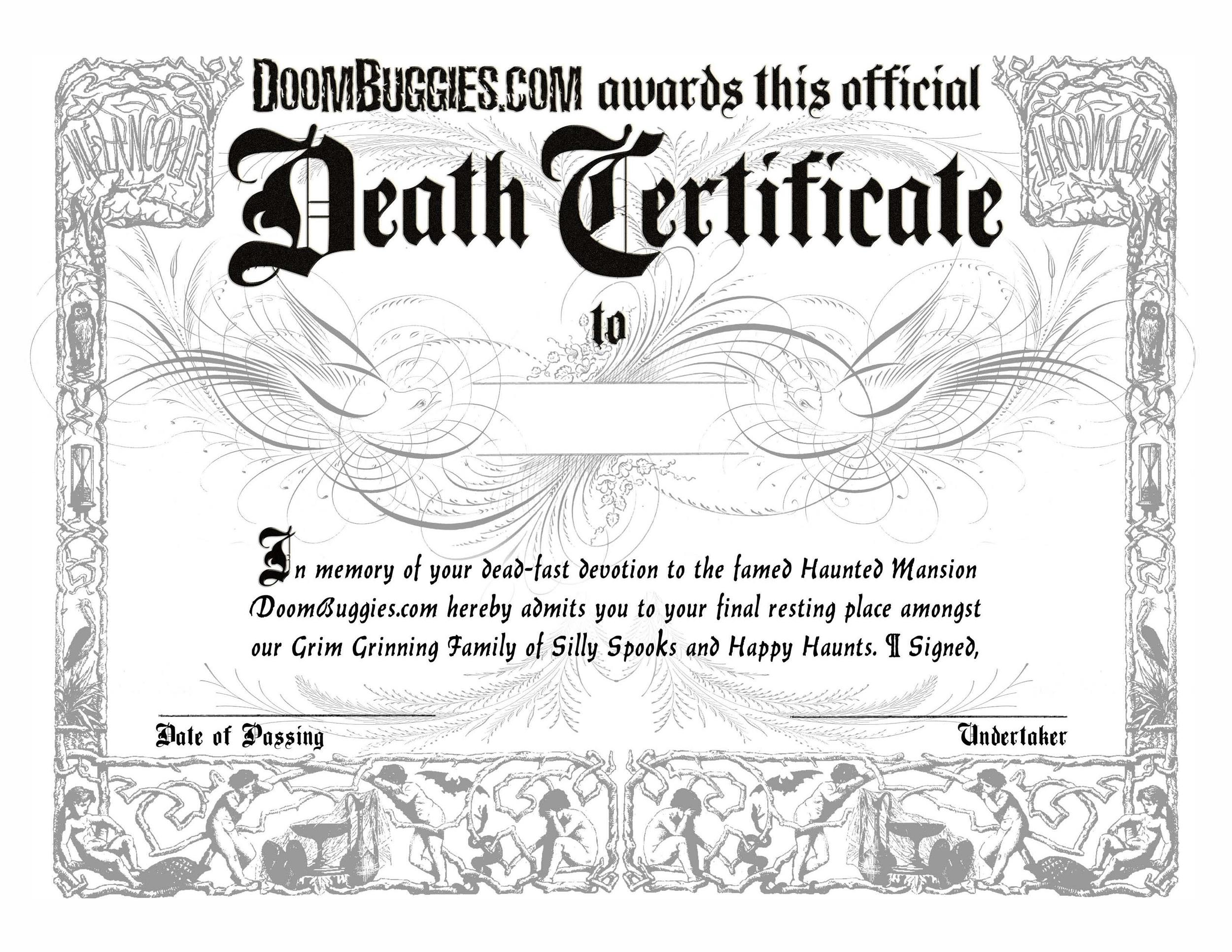 Free death certificate template 37
