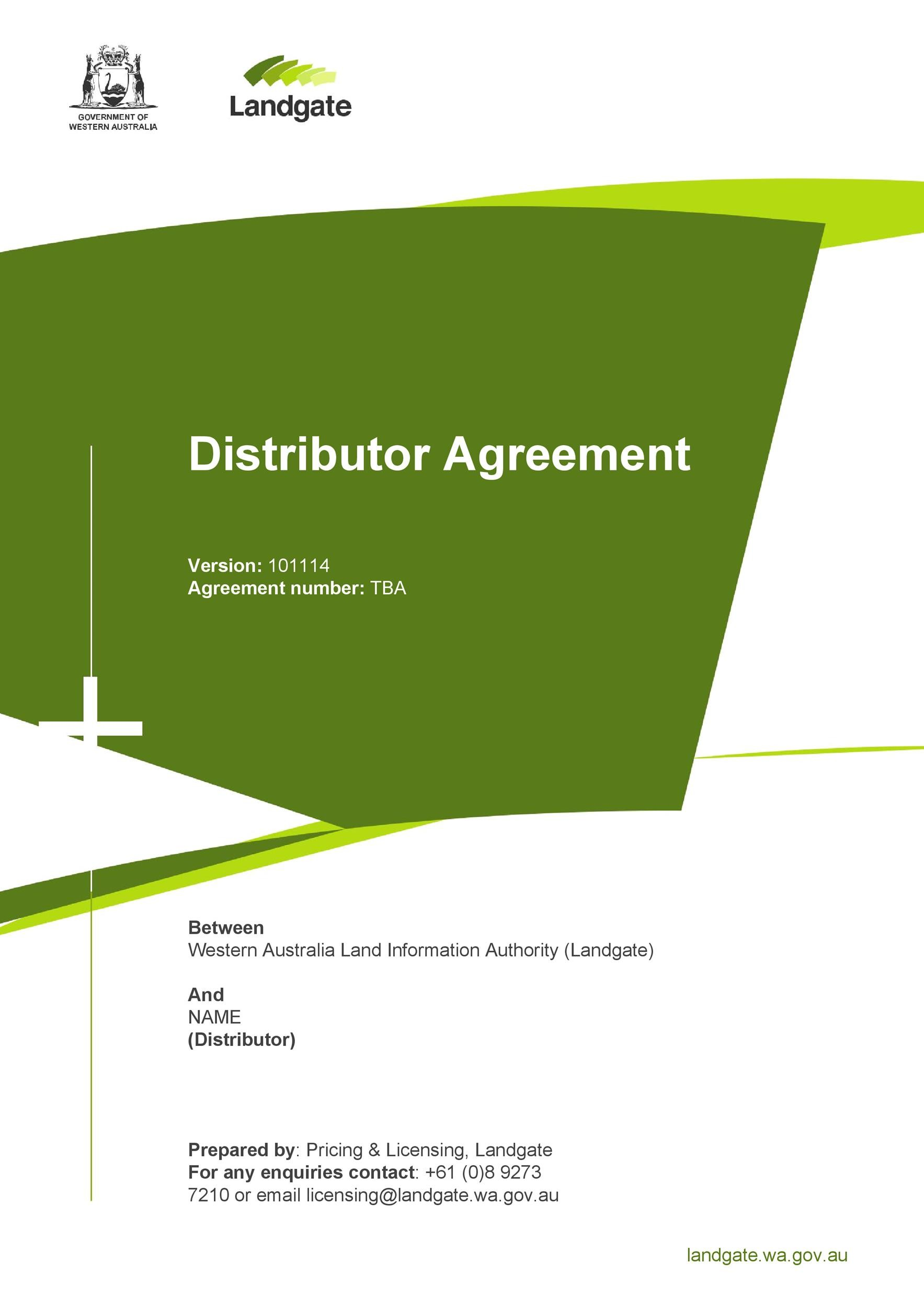 Free distribution agreement 07