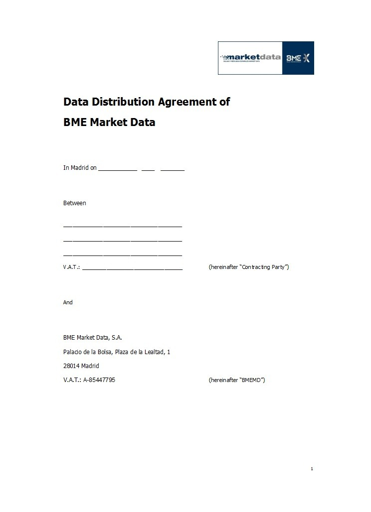 Free distribution agreement 11