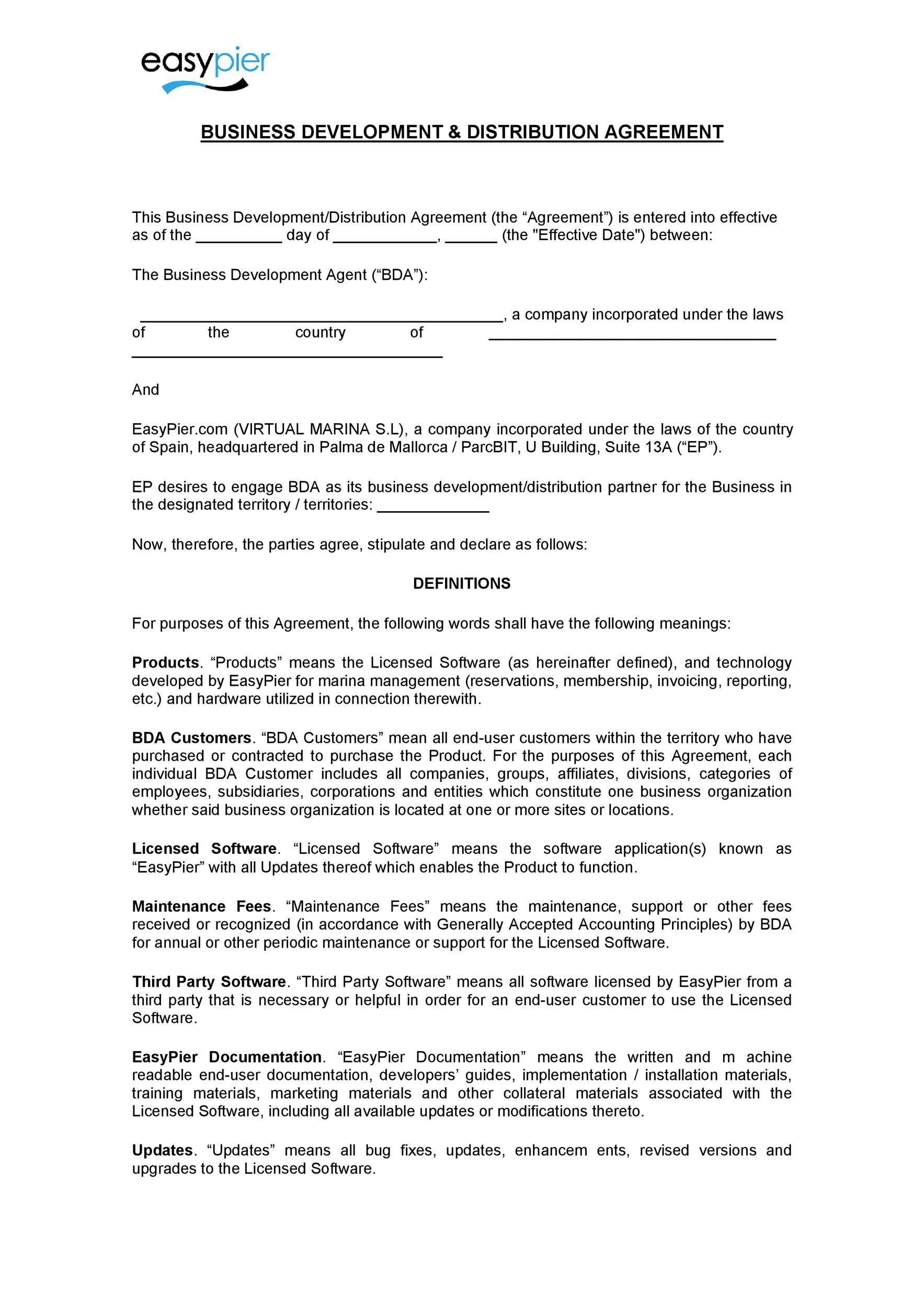 Free distribution agreement 16