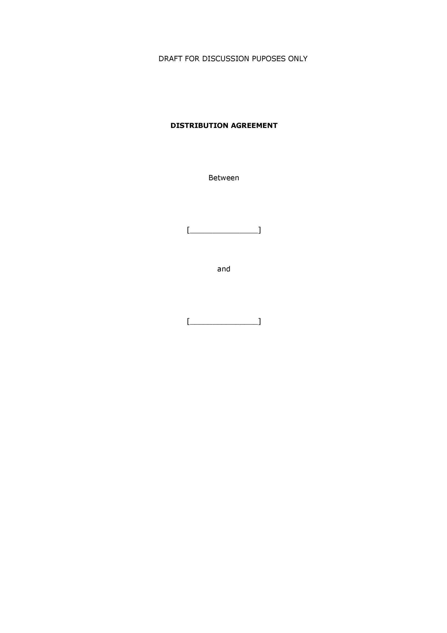 Free distribution agreement 18