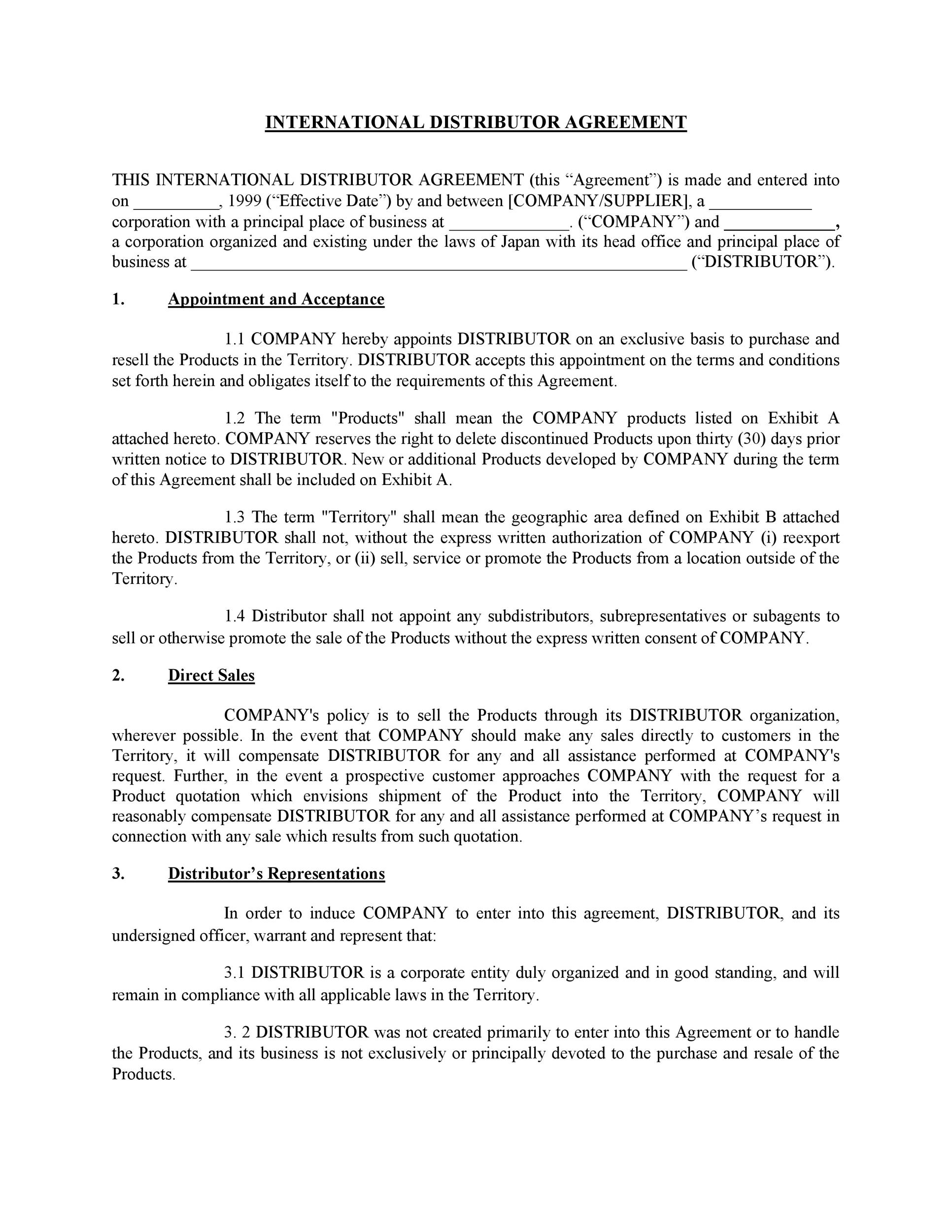 Termination Of Distribution Agreement Letter from templatelab.com