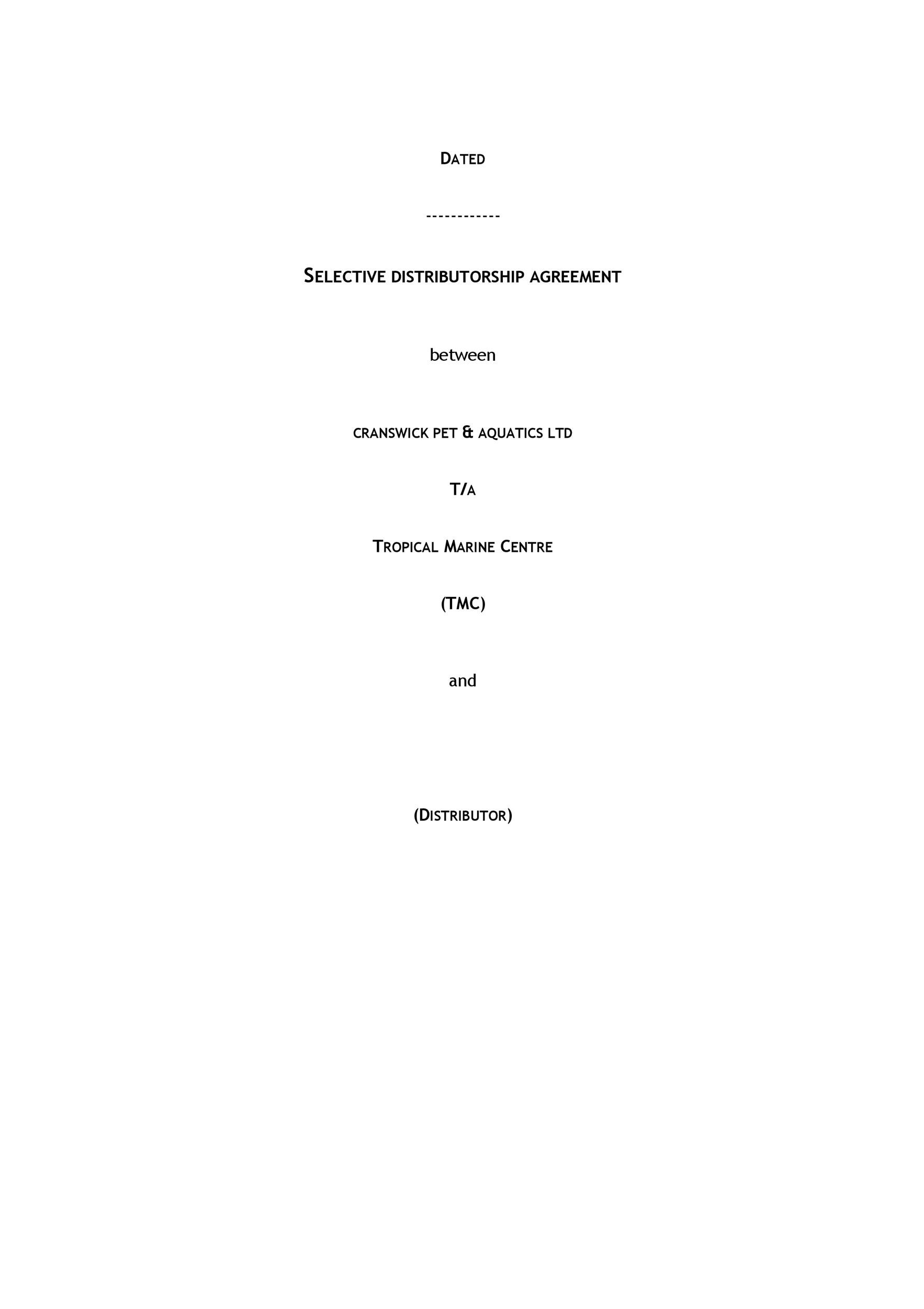 Free distribution agreement 23