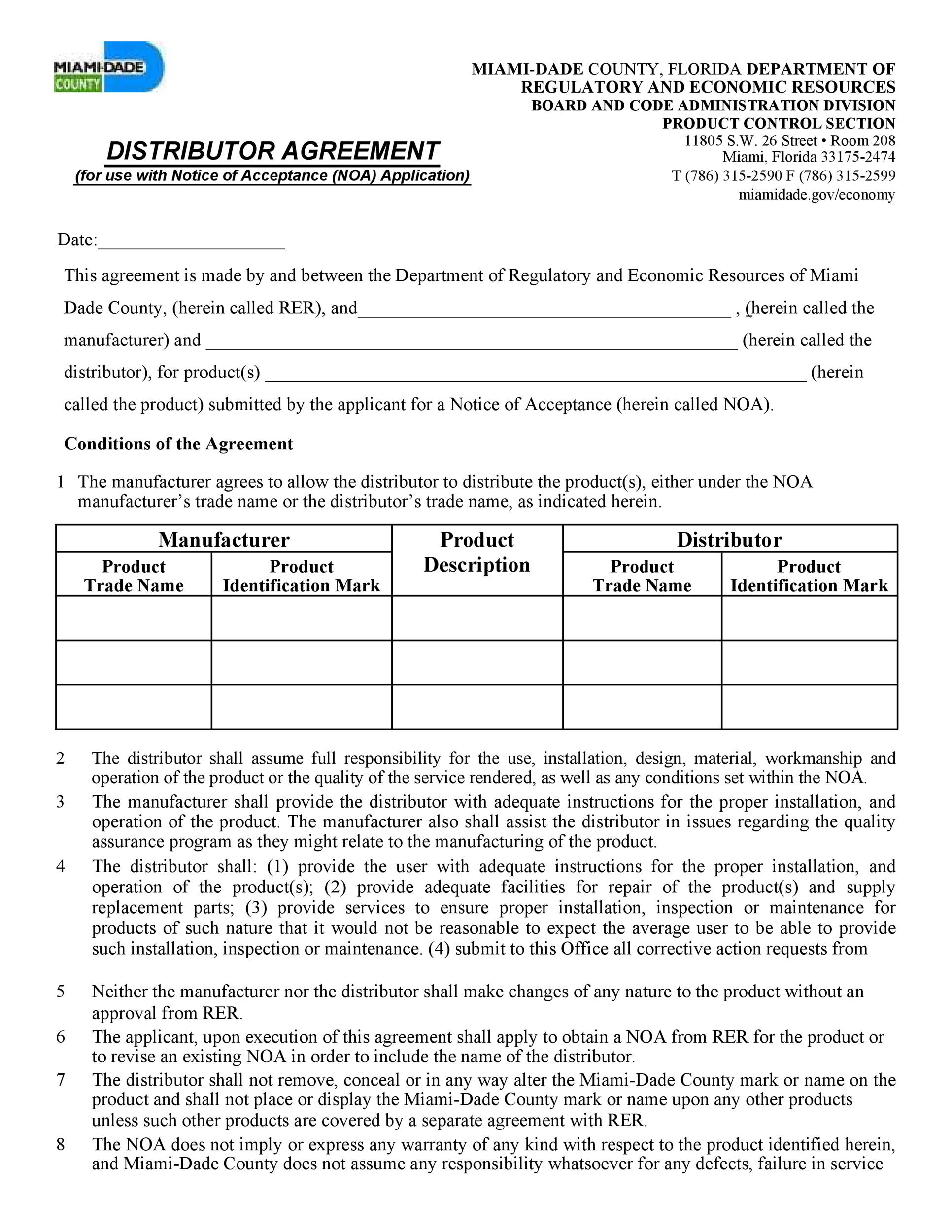 Free distribution agreement 25