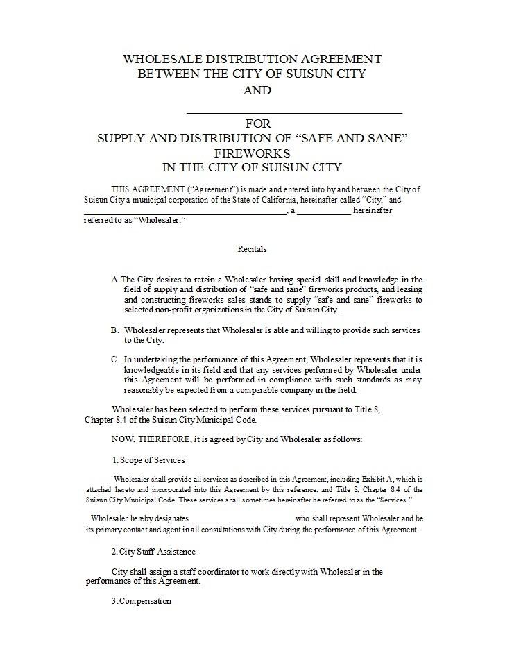 Free distribution agreement 26