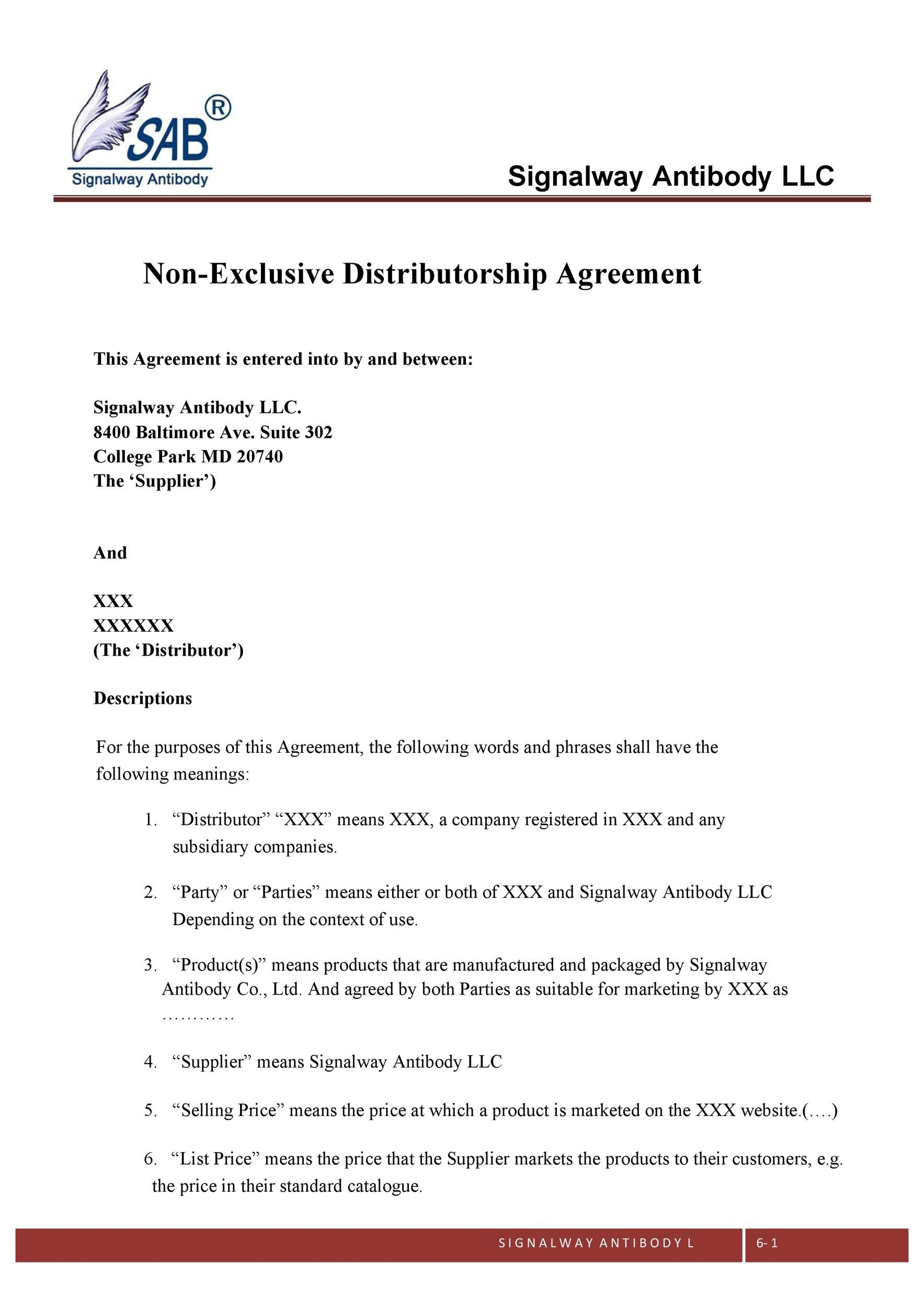 Free distribution agreement 32