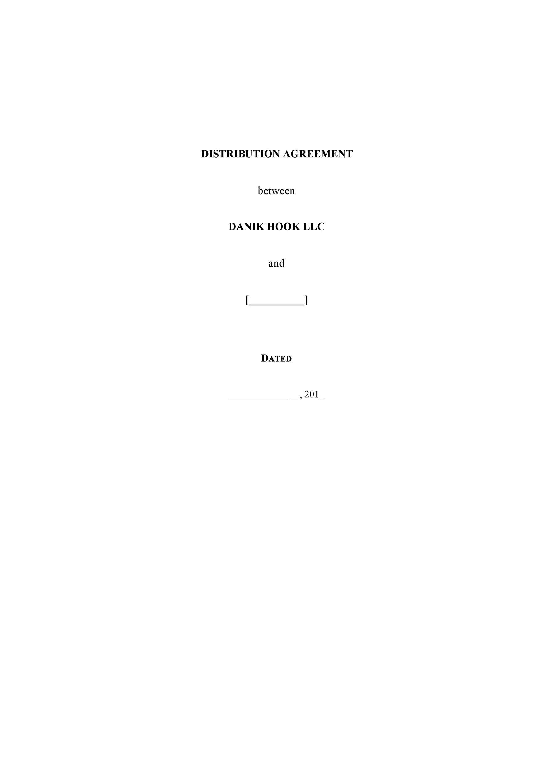 Free distribution agreement 39