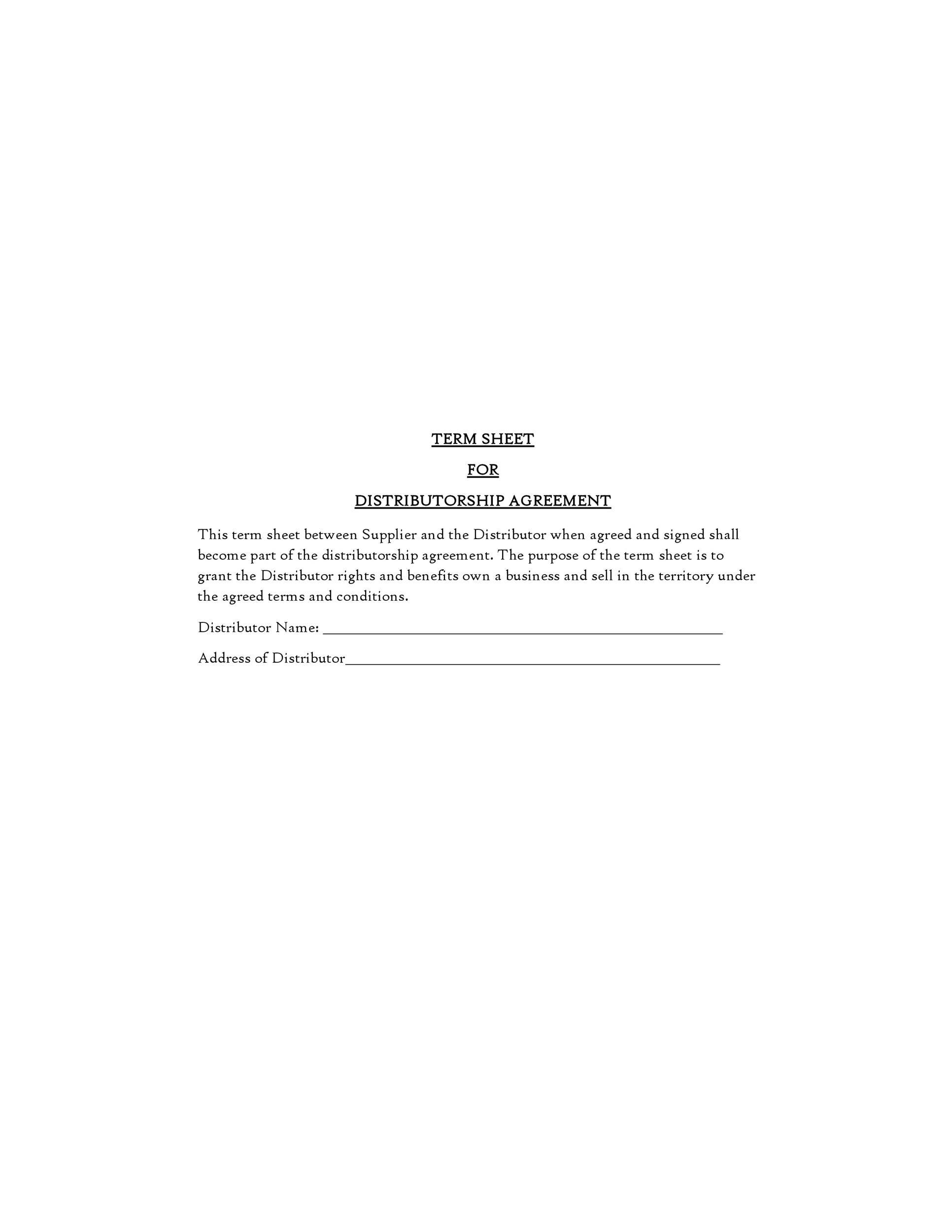 Free distribution agreement 42