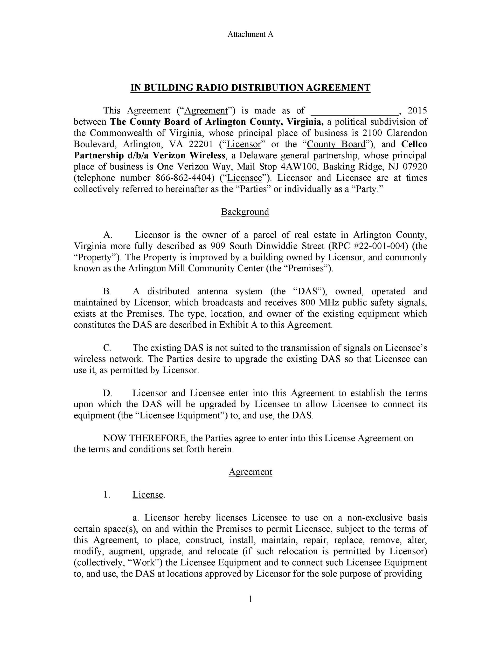Free distribution agreement 50