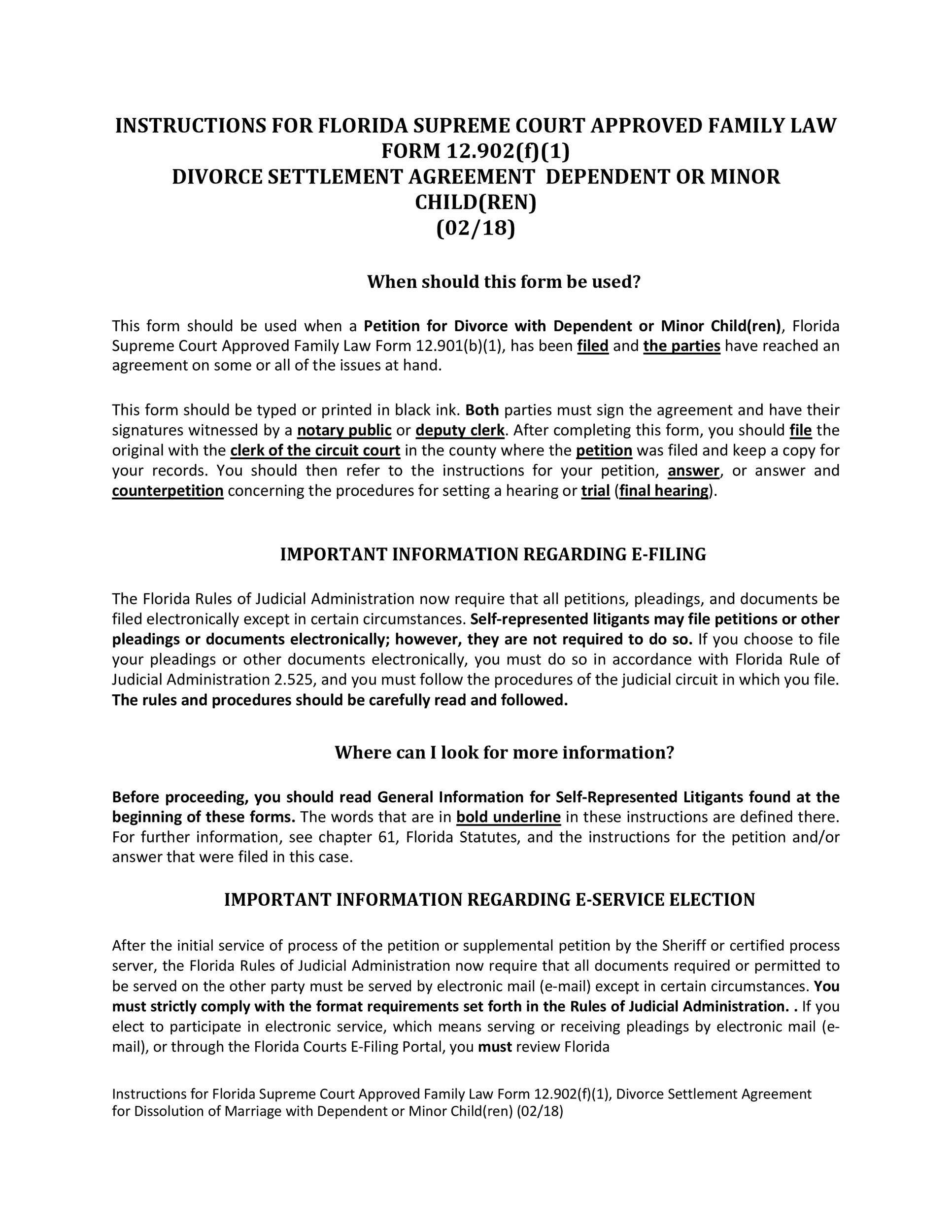 Free divorce agreement 16