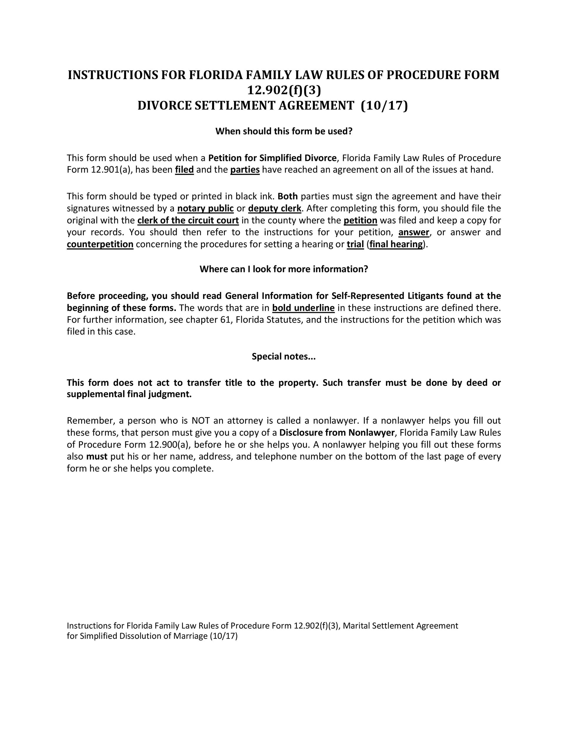 Free divorce agreement 17