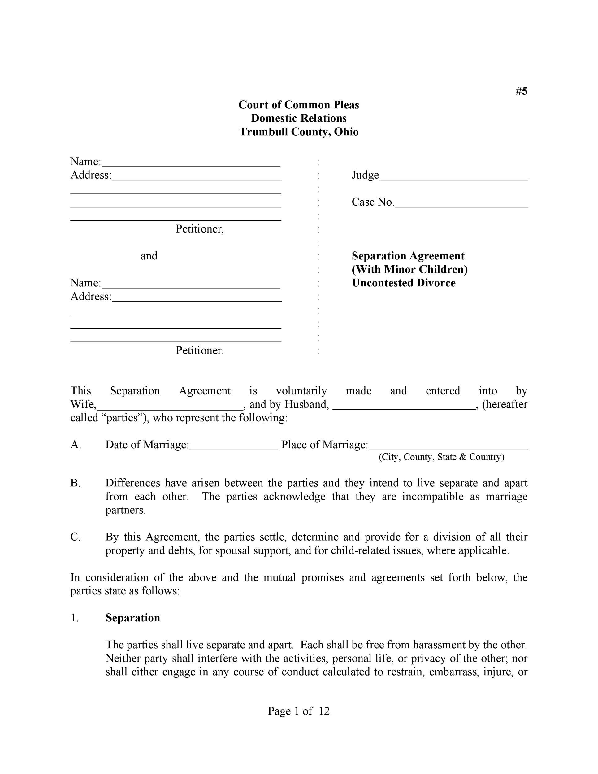 Free divorce agreement 19
