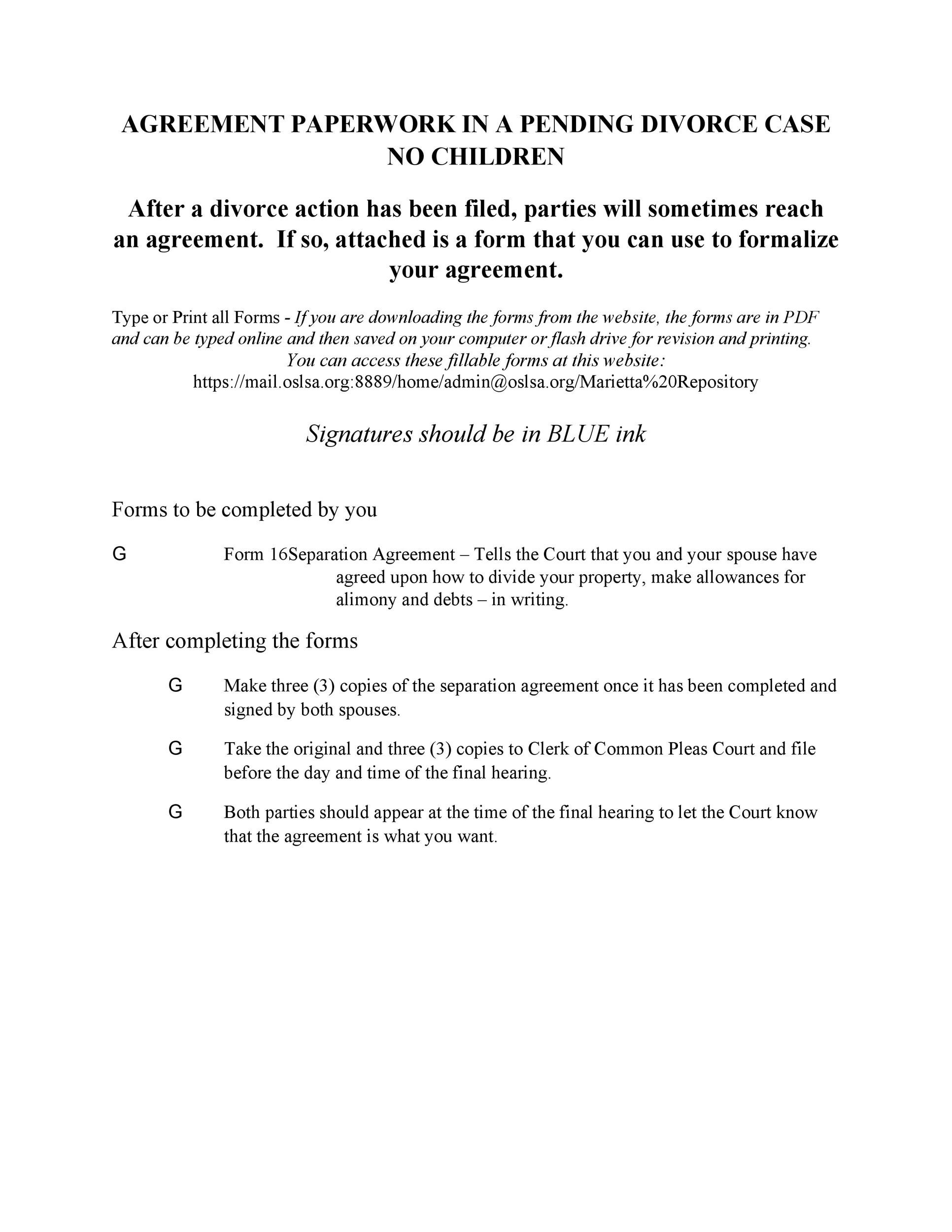 Free divorce agreement 27