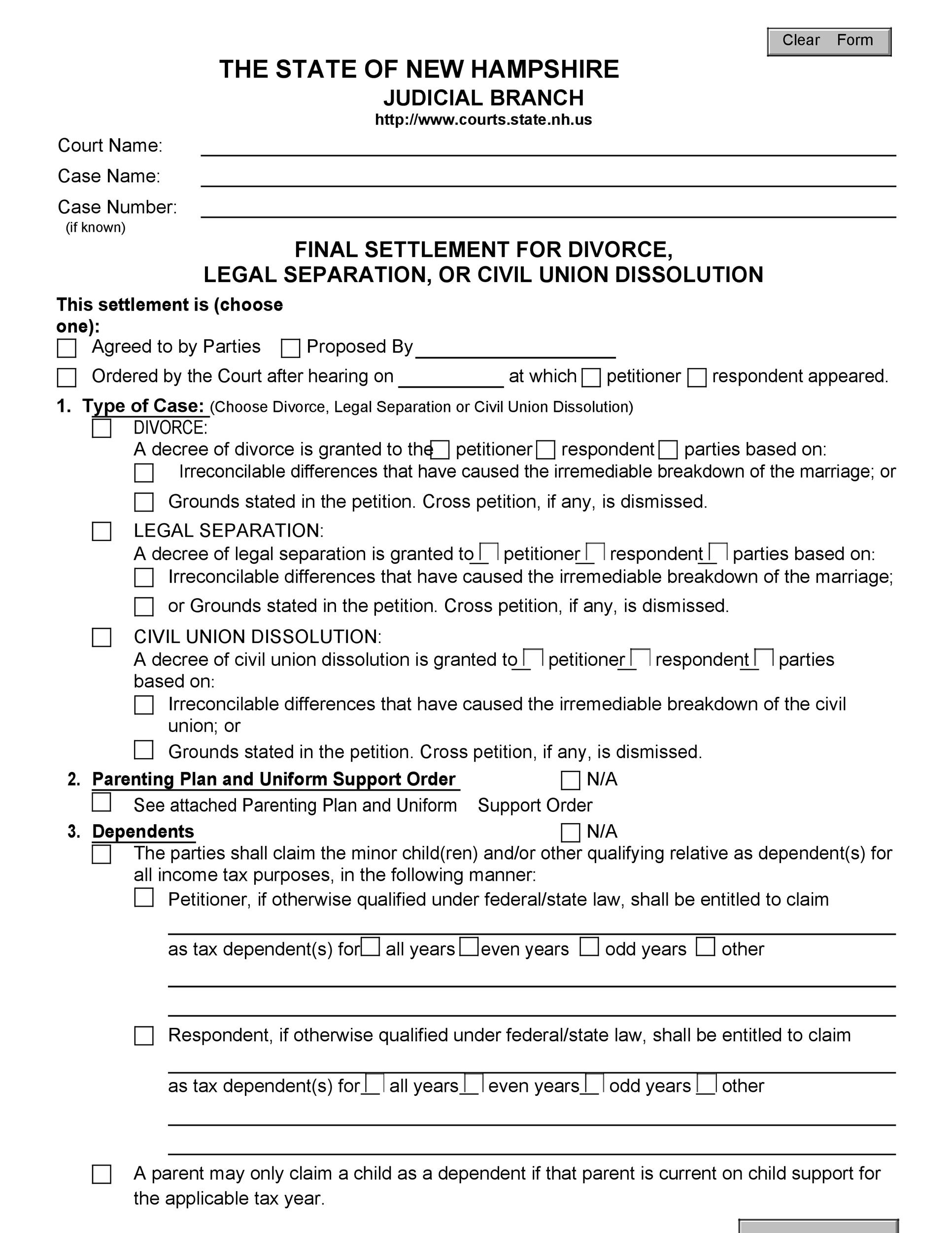 Free divorce agreement 29
