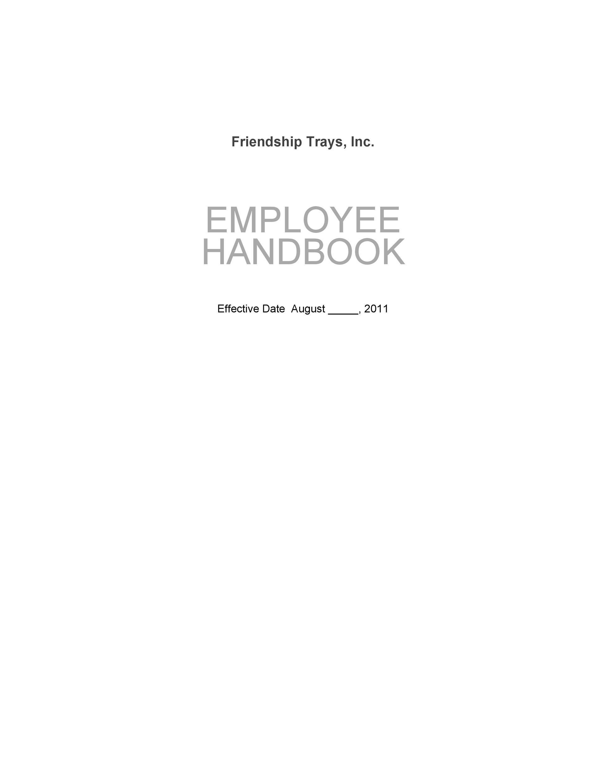 Free employee handbook template 03