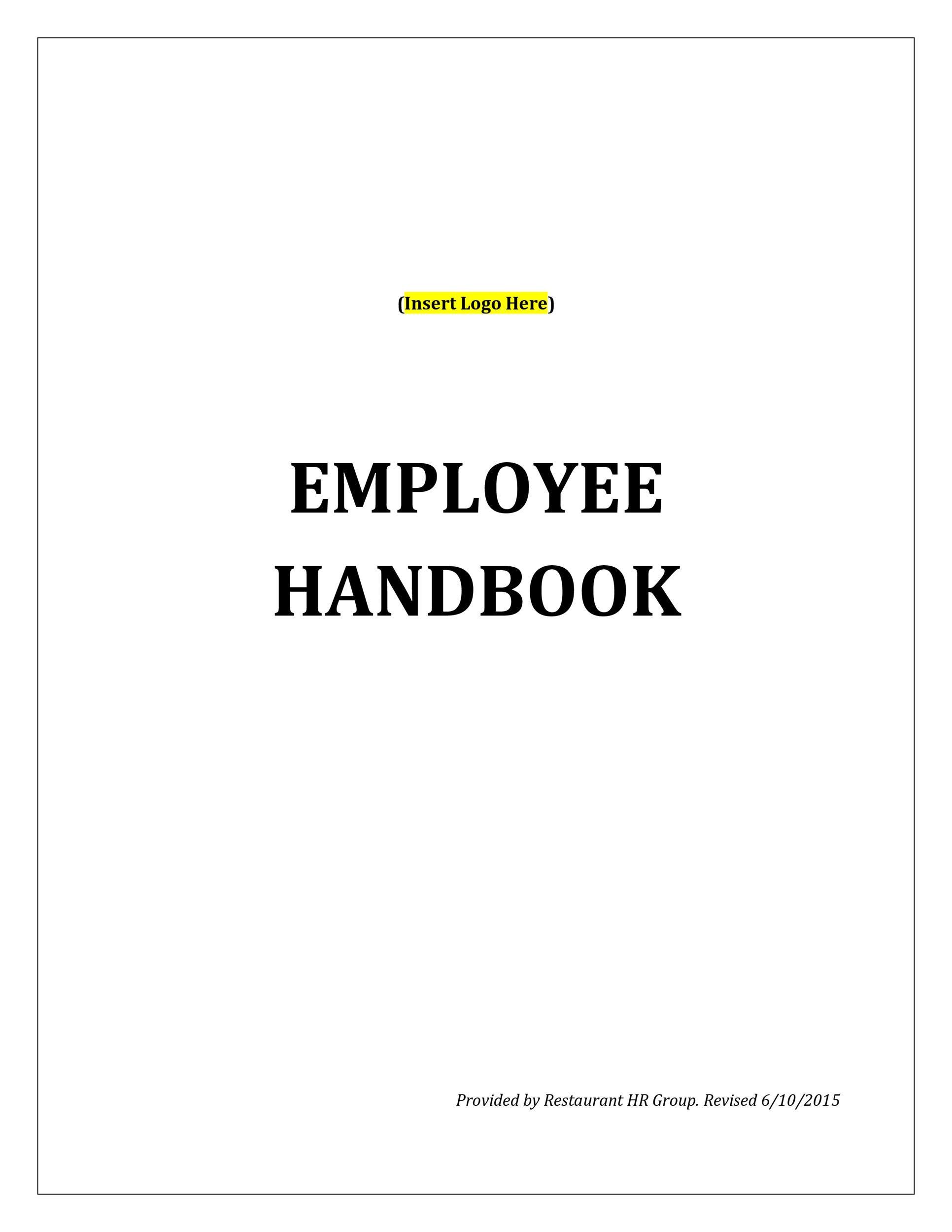 Free employee handbook template 05