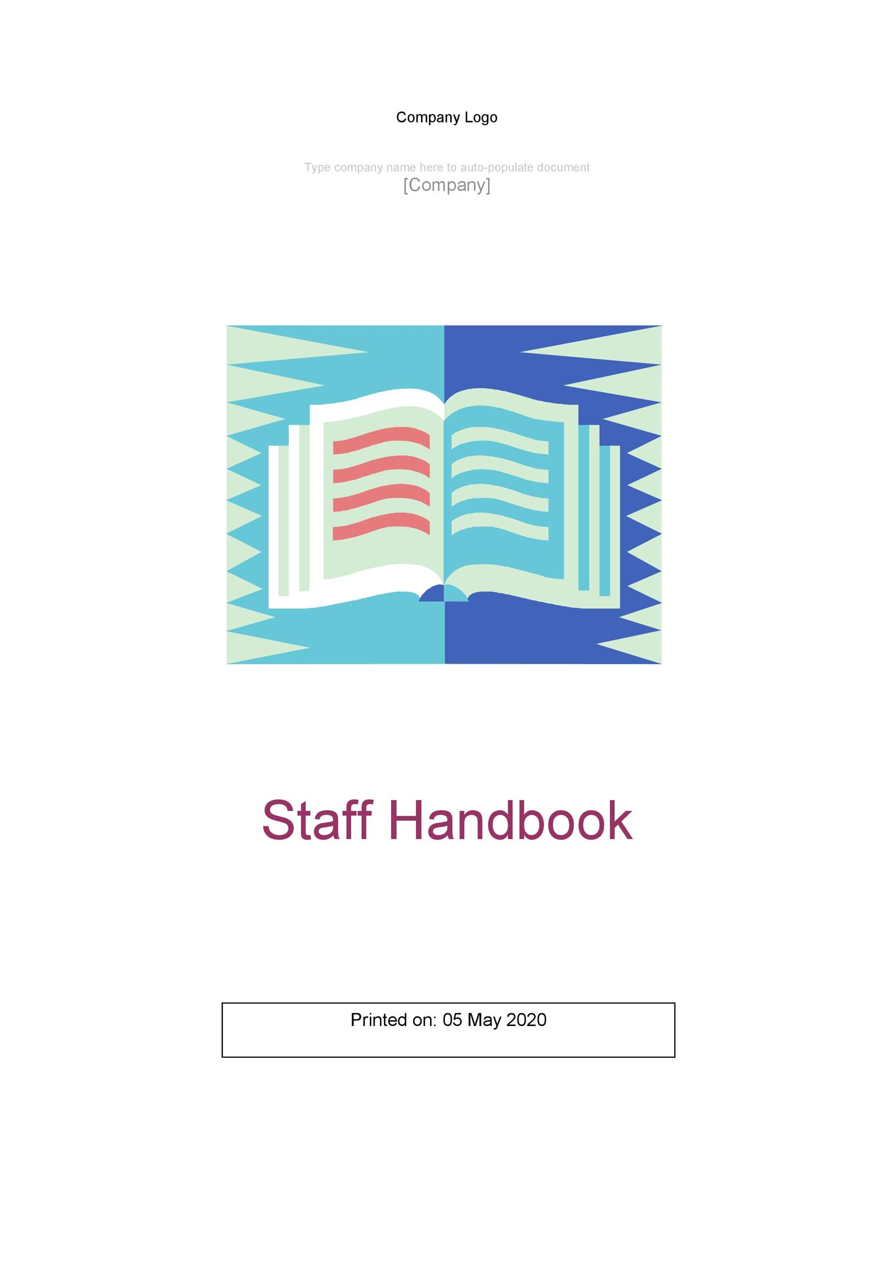 Free employee handbook template 08